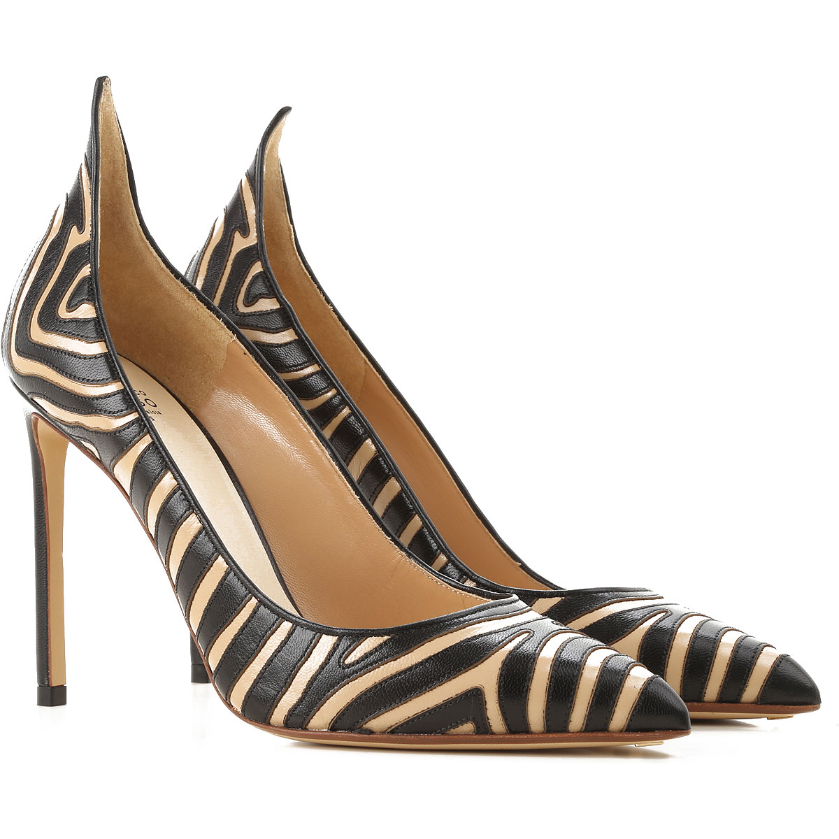 Image of Francesco Russo Pumps & High Heels for Women, Sand, Leather, 2017, 10 6 7 8 8.5