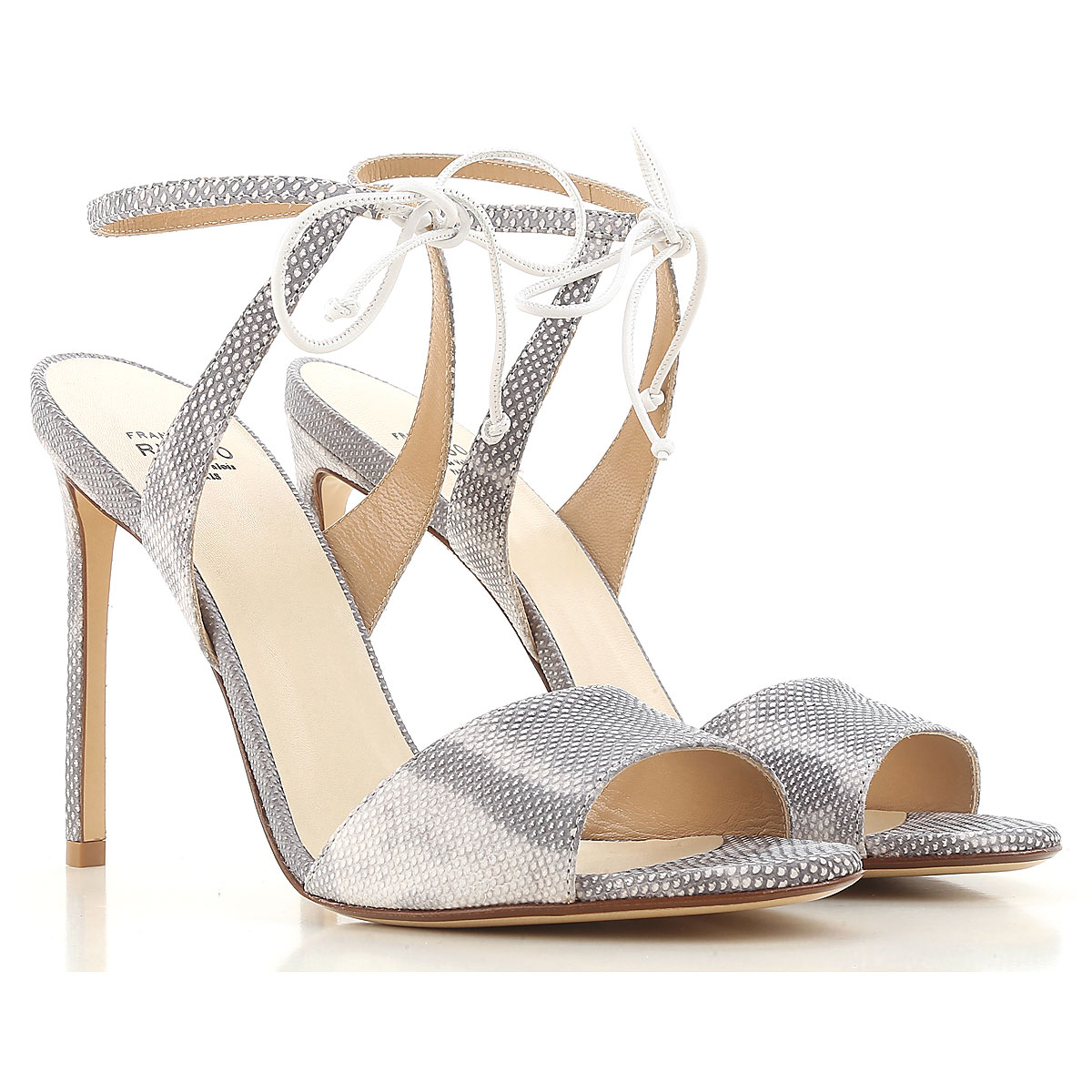 Francesco Russo Sandals for Women On Sale in Outlet, White, Leather, 2019, 8 8.5 9