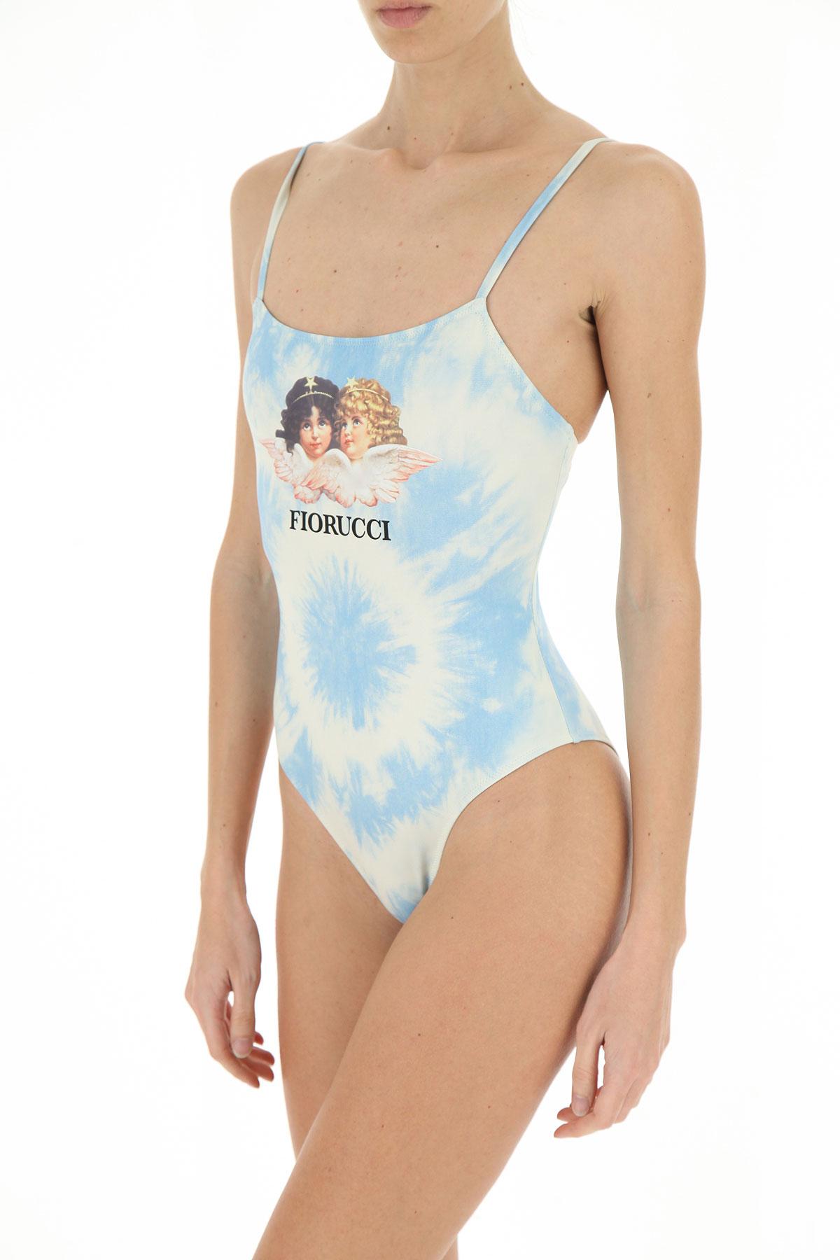 Fiorucci Swimwear Bathing Swimsuits for Women On Sale, Light Blue, polyestere, 2019, 2 4 6