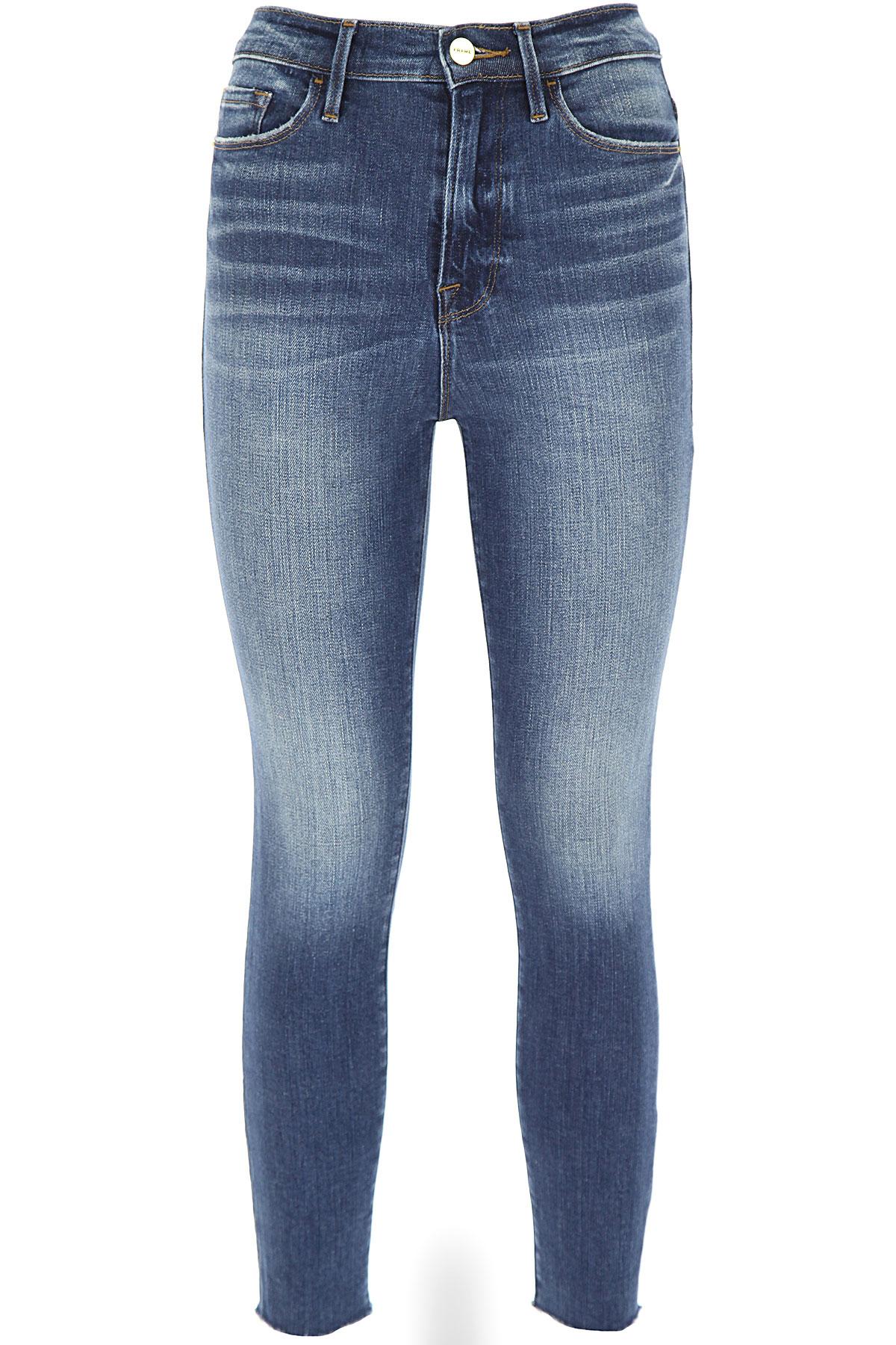 Frame Jeans On Sale, Denim, Cotton, 2019, US 27 - UK 8/10 - IT 42 US 29 - UK 12 - IT 46