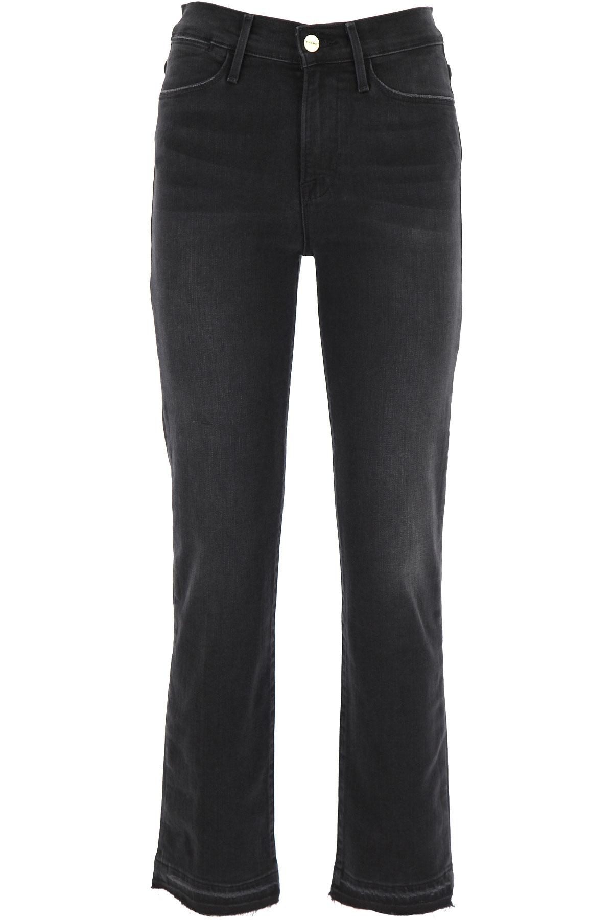 Frame Jeans On Sale, Black, Cotton, 2019, US 25 -- EU 39 US 27 - UK 8/10 - IT 42 US 28 - UK 10 - IT 44 US 29 - UK 12 - IT 46
