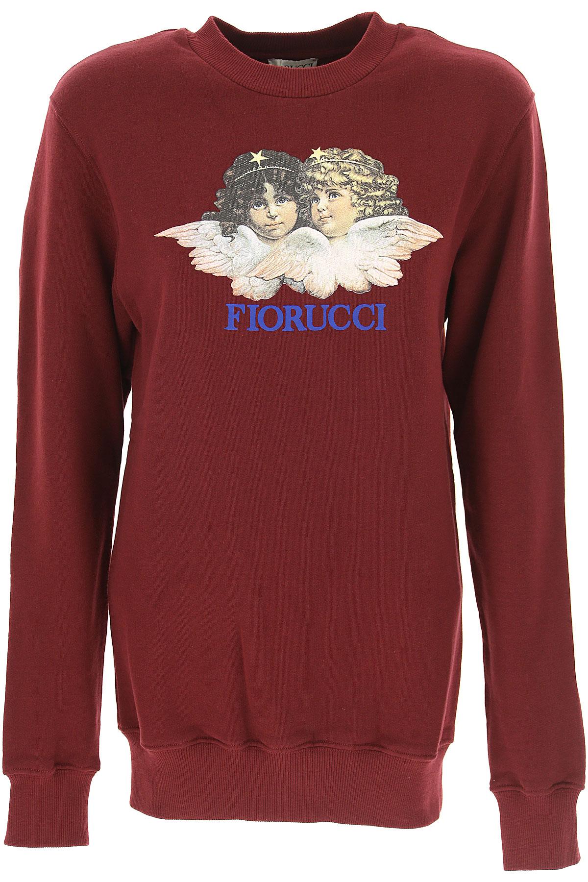 Fiorucci Sweatshirt for Women Pas cher en Soldes, Bordeaux, Coton, 2019, 38 40 44 M