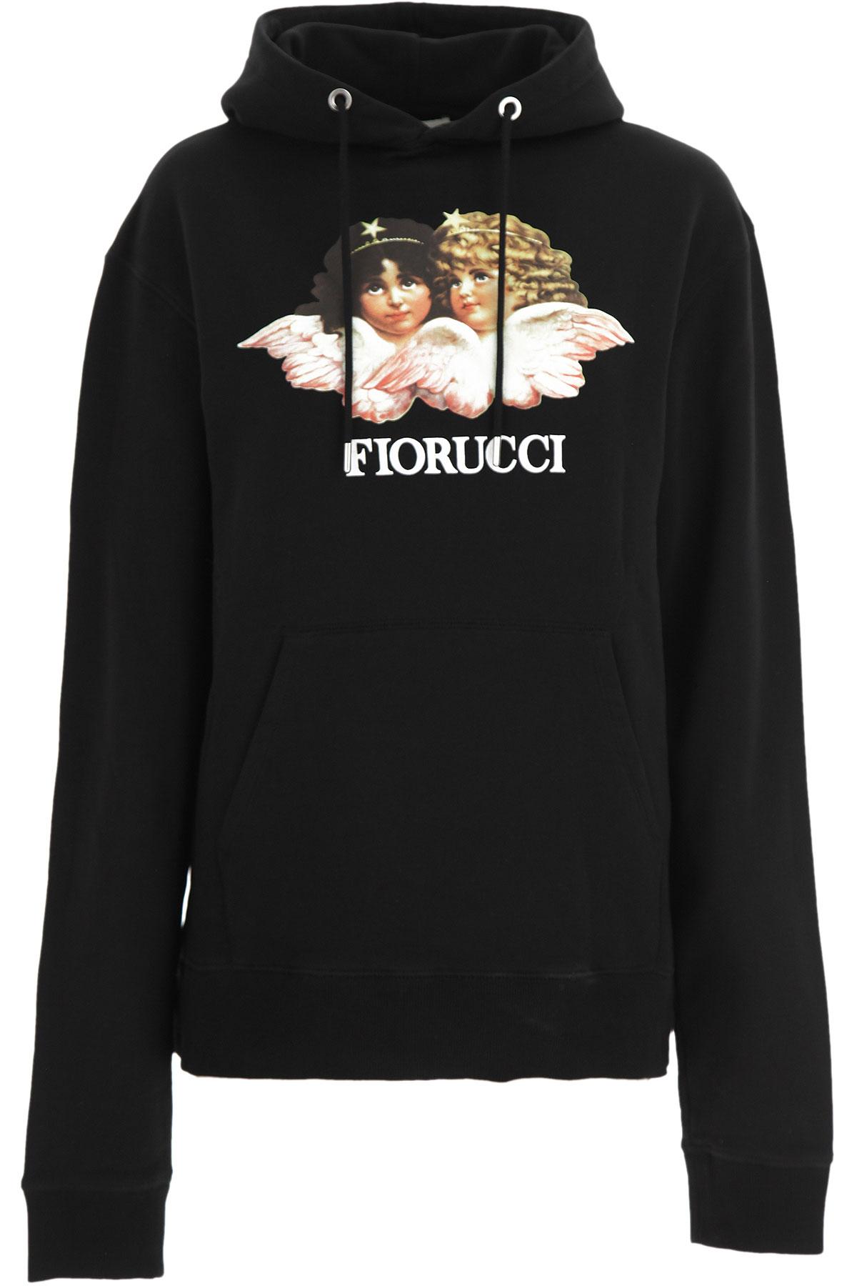 Fiorucci Sweatshirt for Women On Sale, Black, Cotton, 2019, 2 4 6 8
