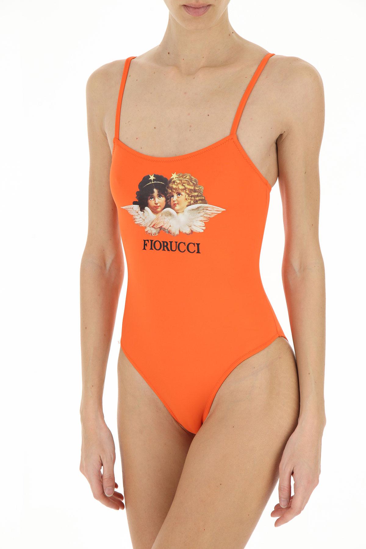 Fiorucci Swimwear Bathing Swimsuits for Women On Sale, Orange, polyamide, 2019, 2 6
