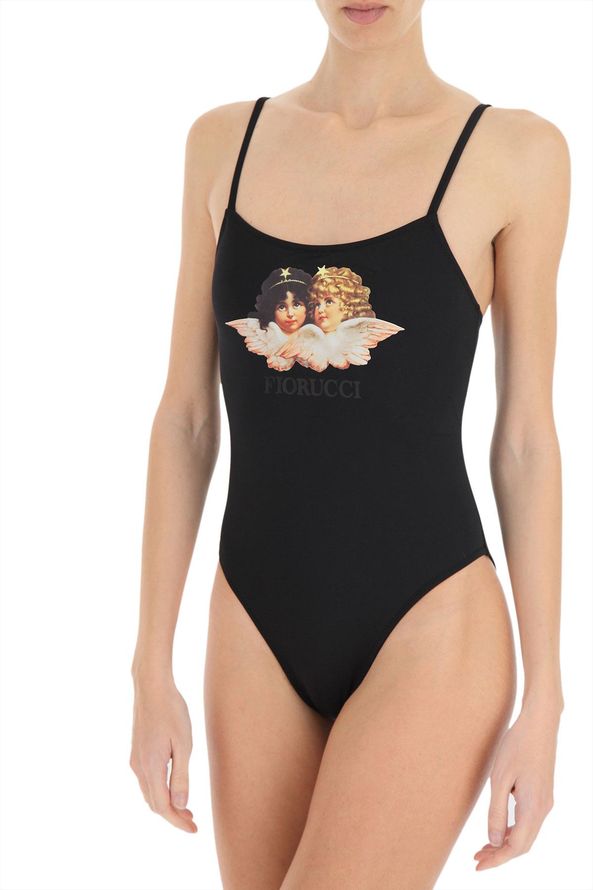 Fiorucci Swimwear Bathing Swimsuits for Women On Sale, Black, polyamide, 2019, 2 4 6 8