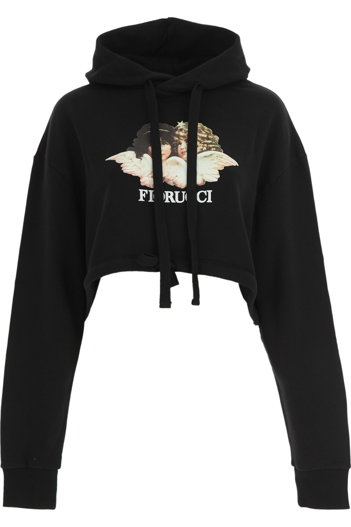 Fiorucci Sweatshirt for Women On Sale, Black, Cotton, 2019, 2 4 6
