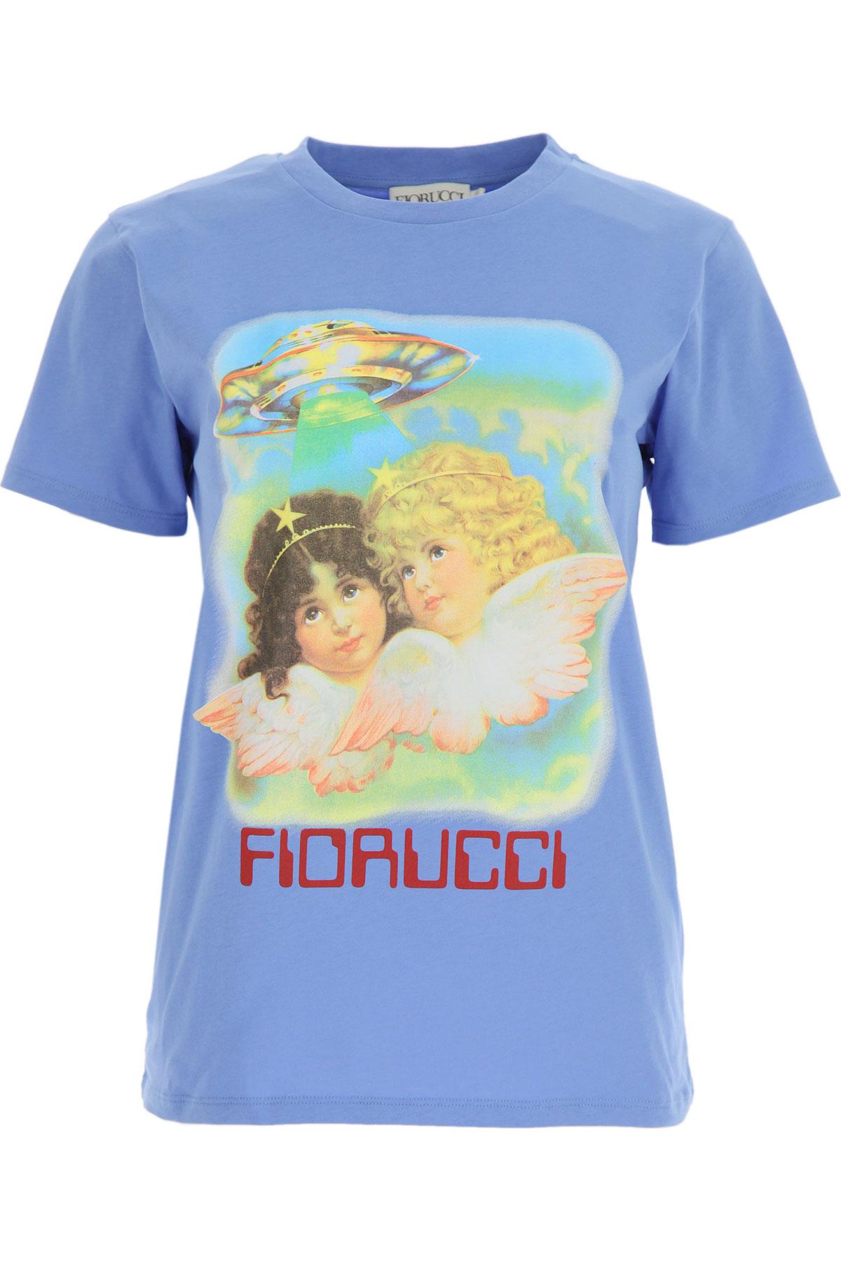 Fiorucci T-Shirt for Women On Sale, Blue, Cotton, 2019, 2 4 6 8