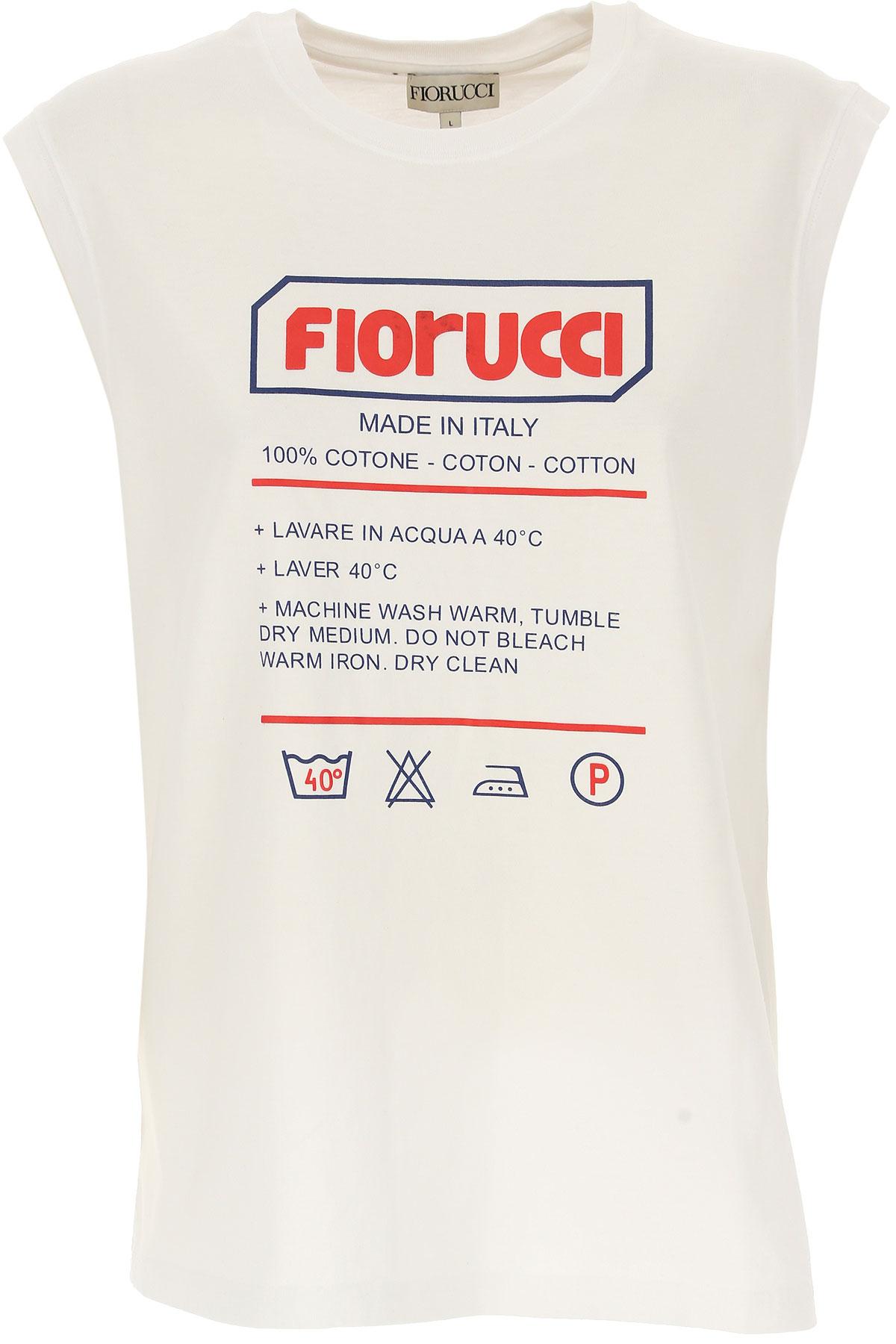 Fiorucci T-shirt Femme Pas cher en Soldes, Blanc, Coton, 2017, 38 40 44 M