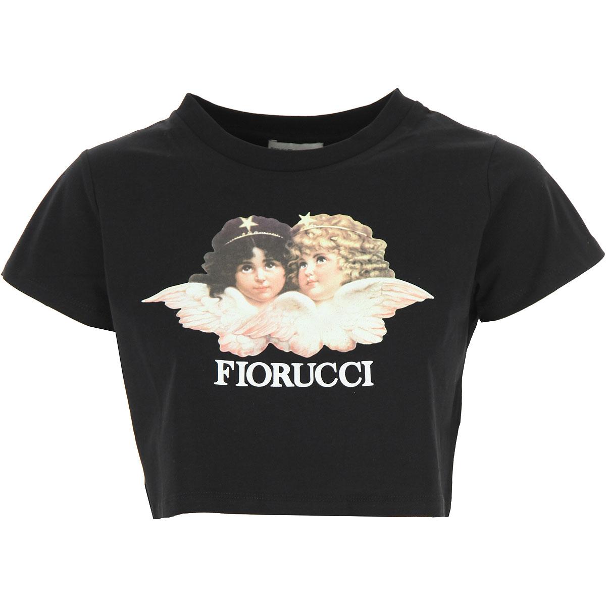Fiorucci T-Shirt for Women On Sale, Black, Cotton, 2019, 2 4 6