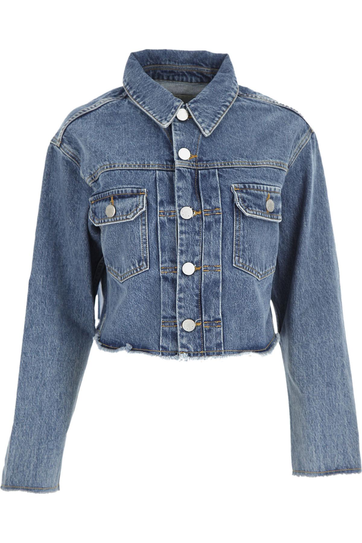 Fiorucci Jacket for Women On Sale, Blue Denim, Cotton, 2019, 2 4 6