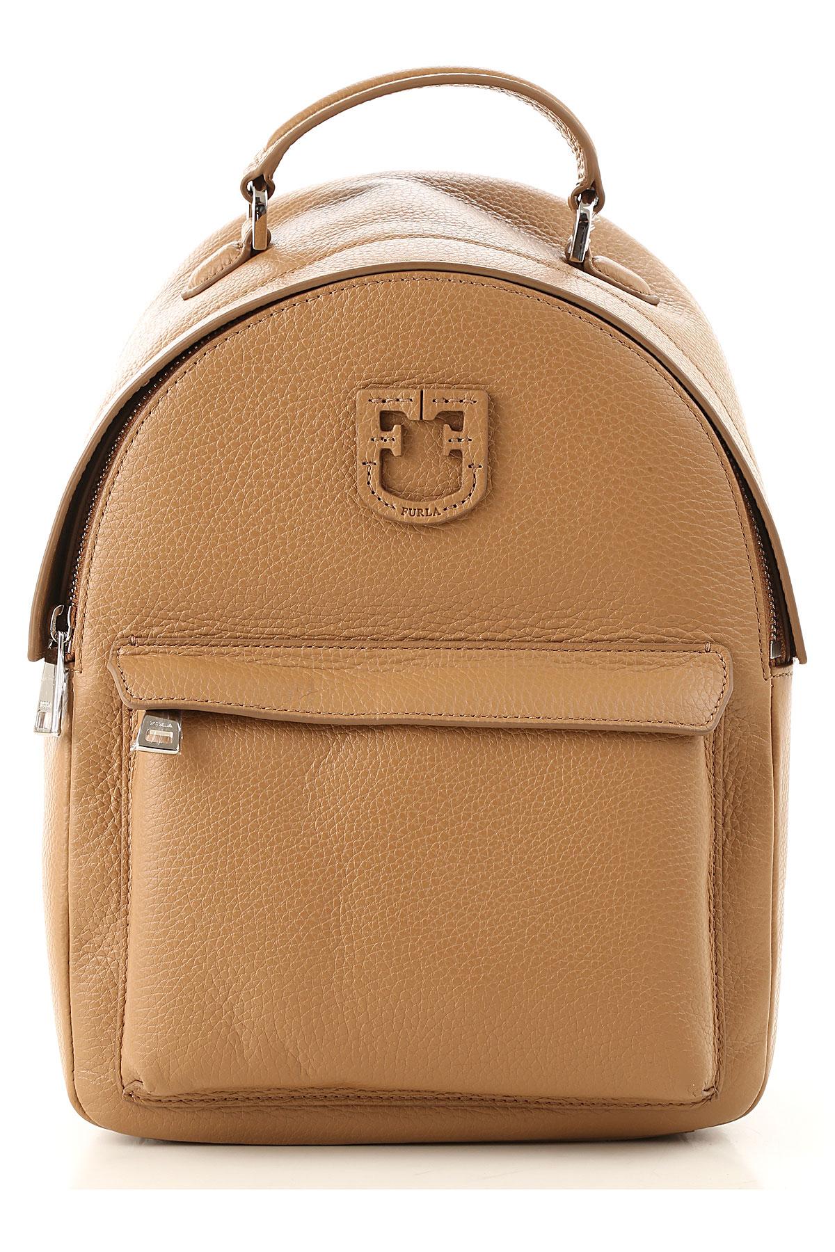 Furla Backpack for Women On Sale, Beige, Leather, 2019