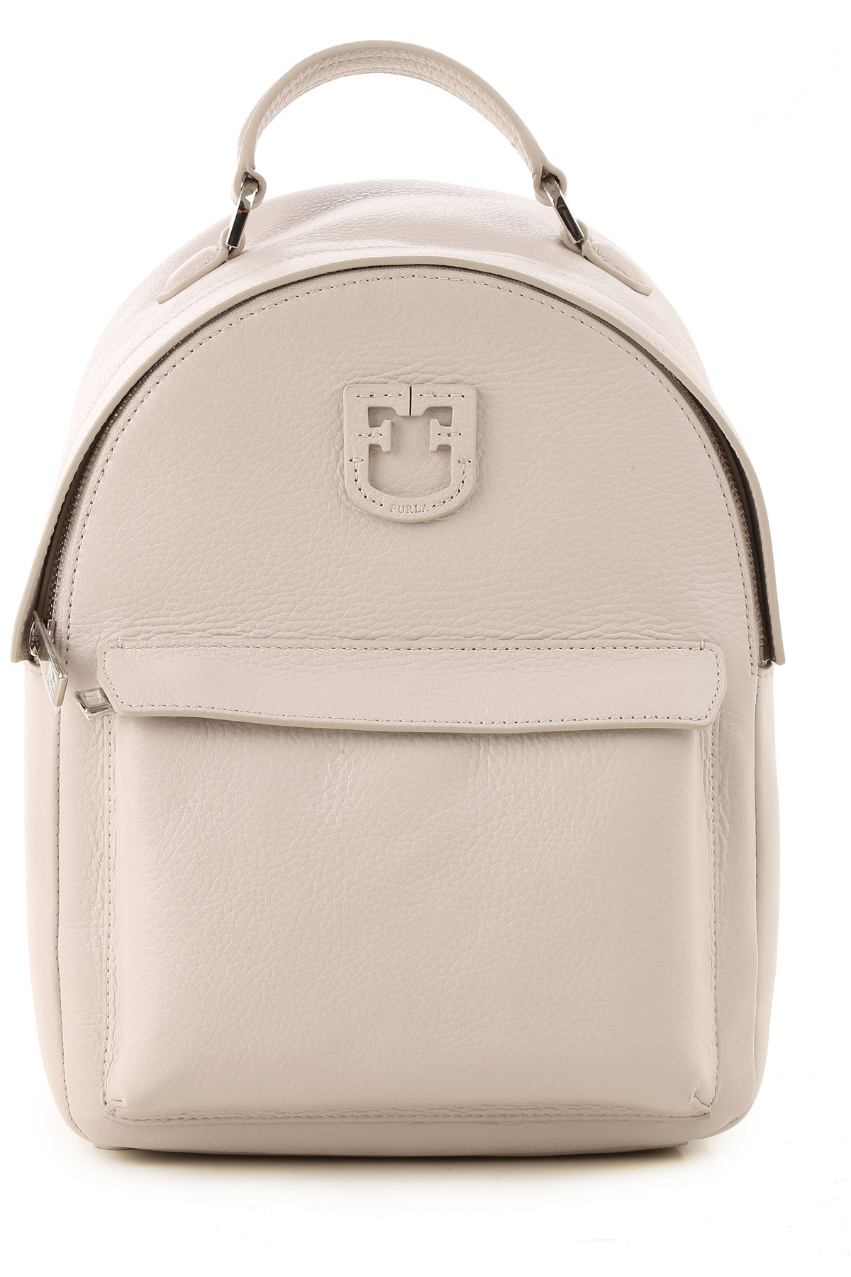 Furla Backpack for Women On Sale, Linen, Leather, 2019