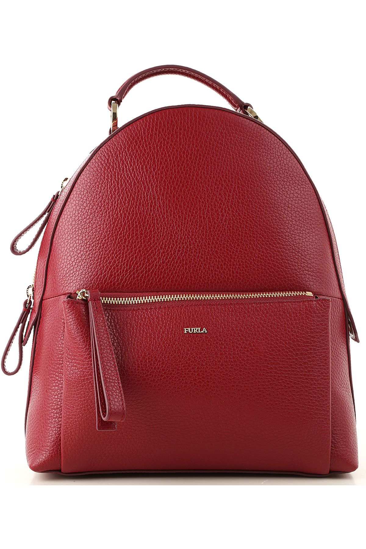 Furla Backpack for Women On Sale, Cherry, Leather, 2019