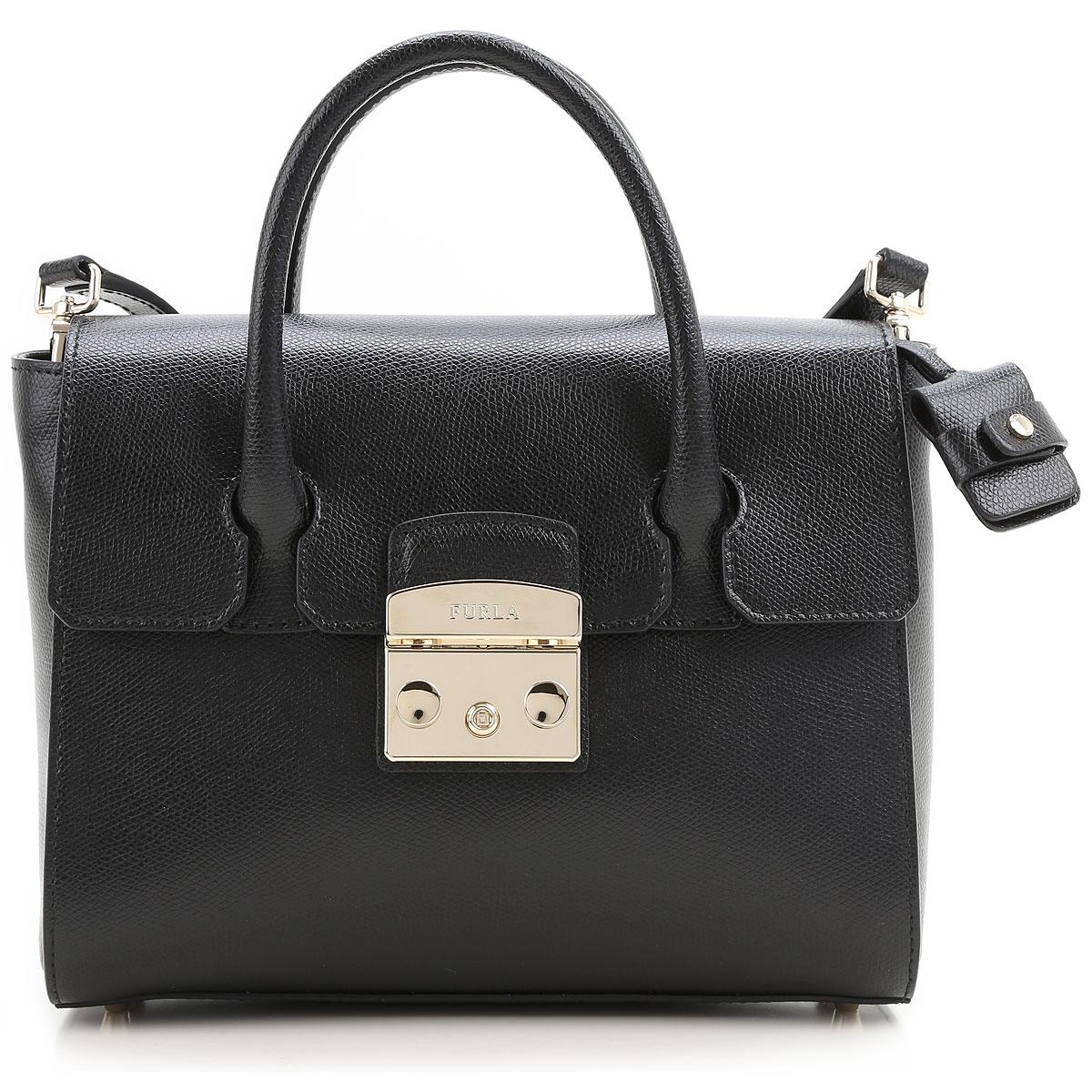 Furla Shoulder Bag for Women On Sale, Black, Leather, 2017