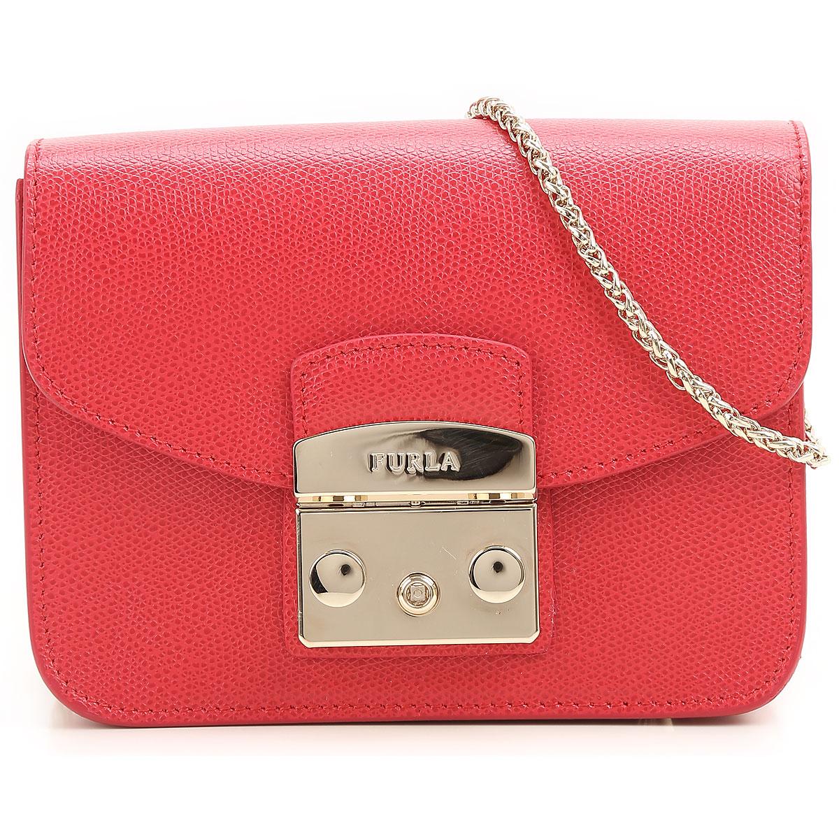 Furla Shoulder Bag for Women, Ruby Red, Leather, 2017