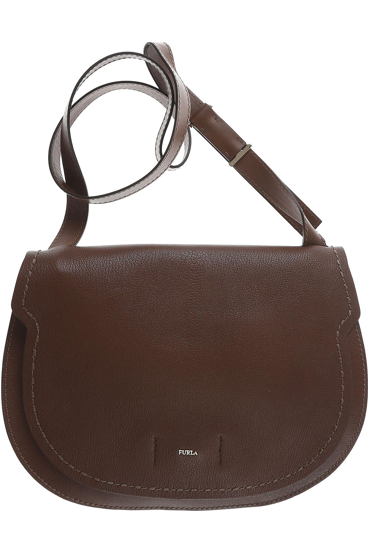 Furla Shoulder Bag for Women On Sale in Outlet, Marron Glac�, Leather, 2017