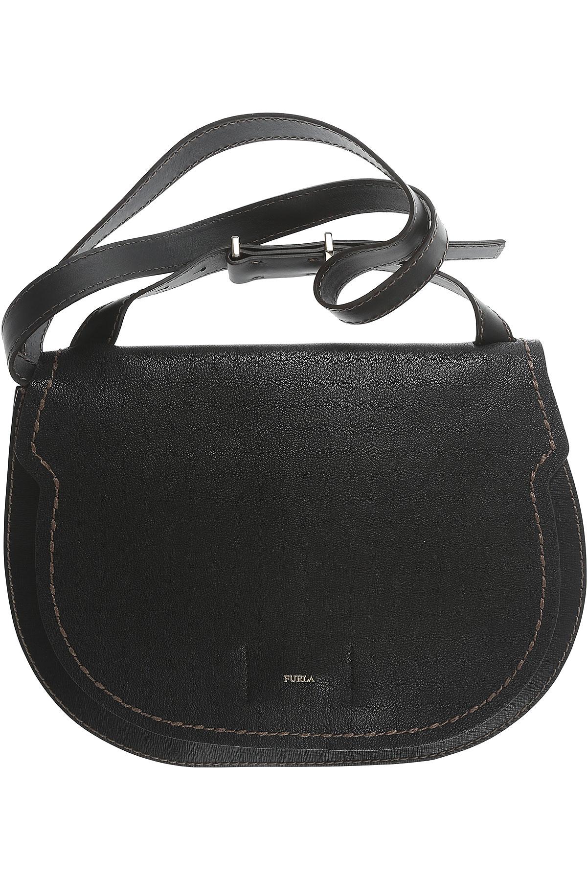 Furla Shoulder Bag for Women On Sale in Outlet, Onyx, Leather, 2017