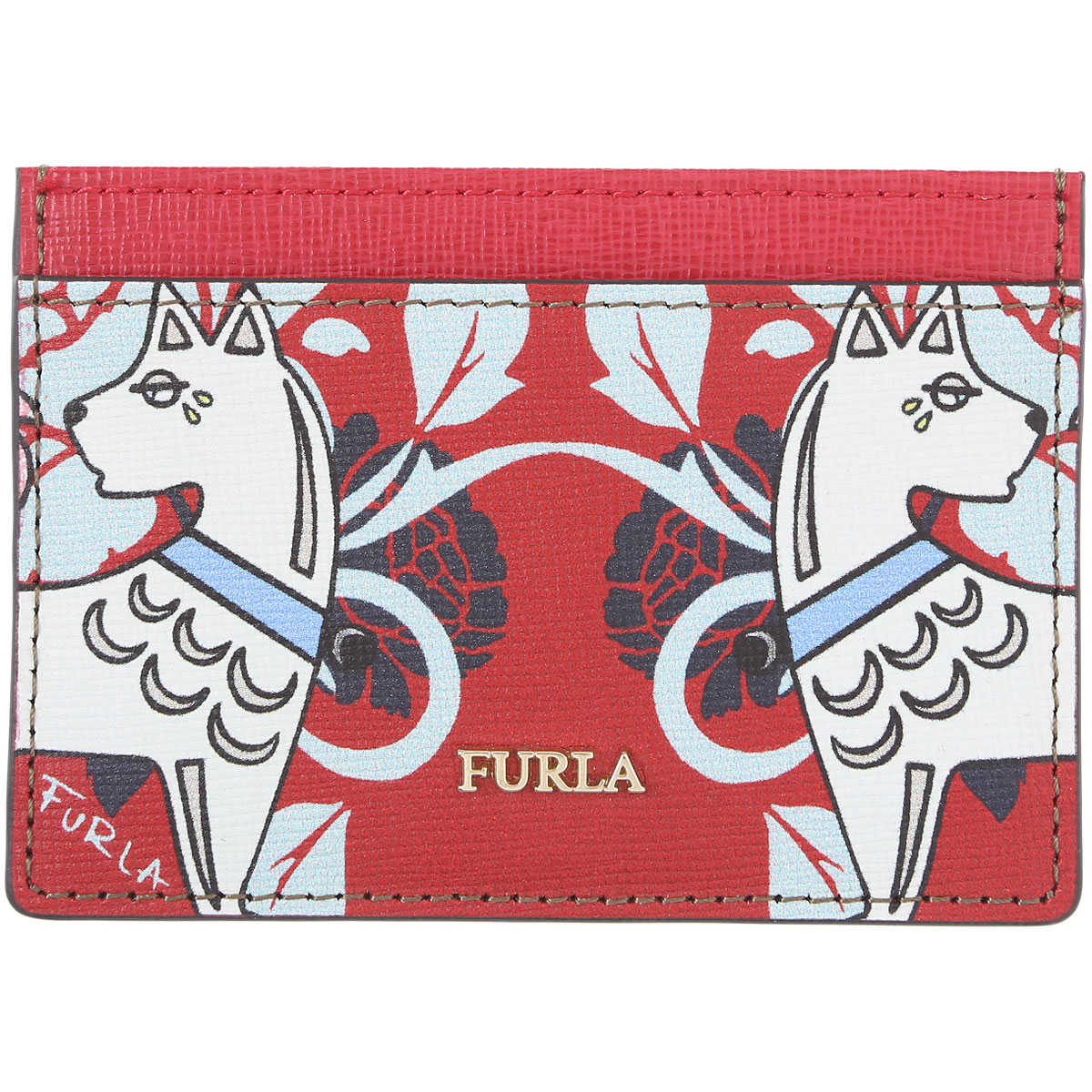 Furla Card Holder for Women On Sale in Outlet, Ruby, Leather, 2019