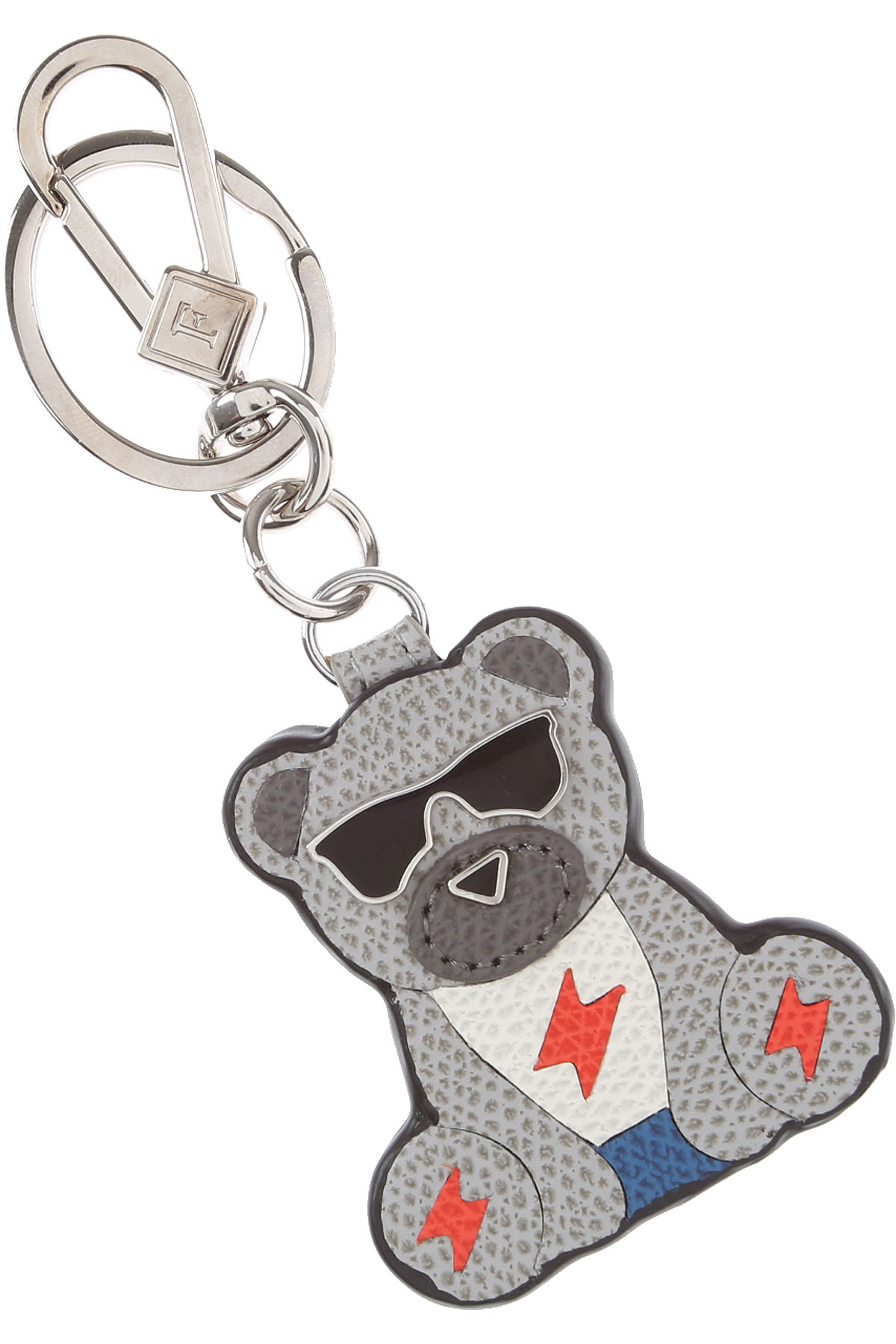 Furla Key Chain for Women, Key Ring On Sale in Outlet, Grey, Leather, 2019