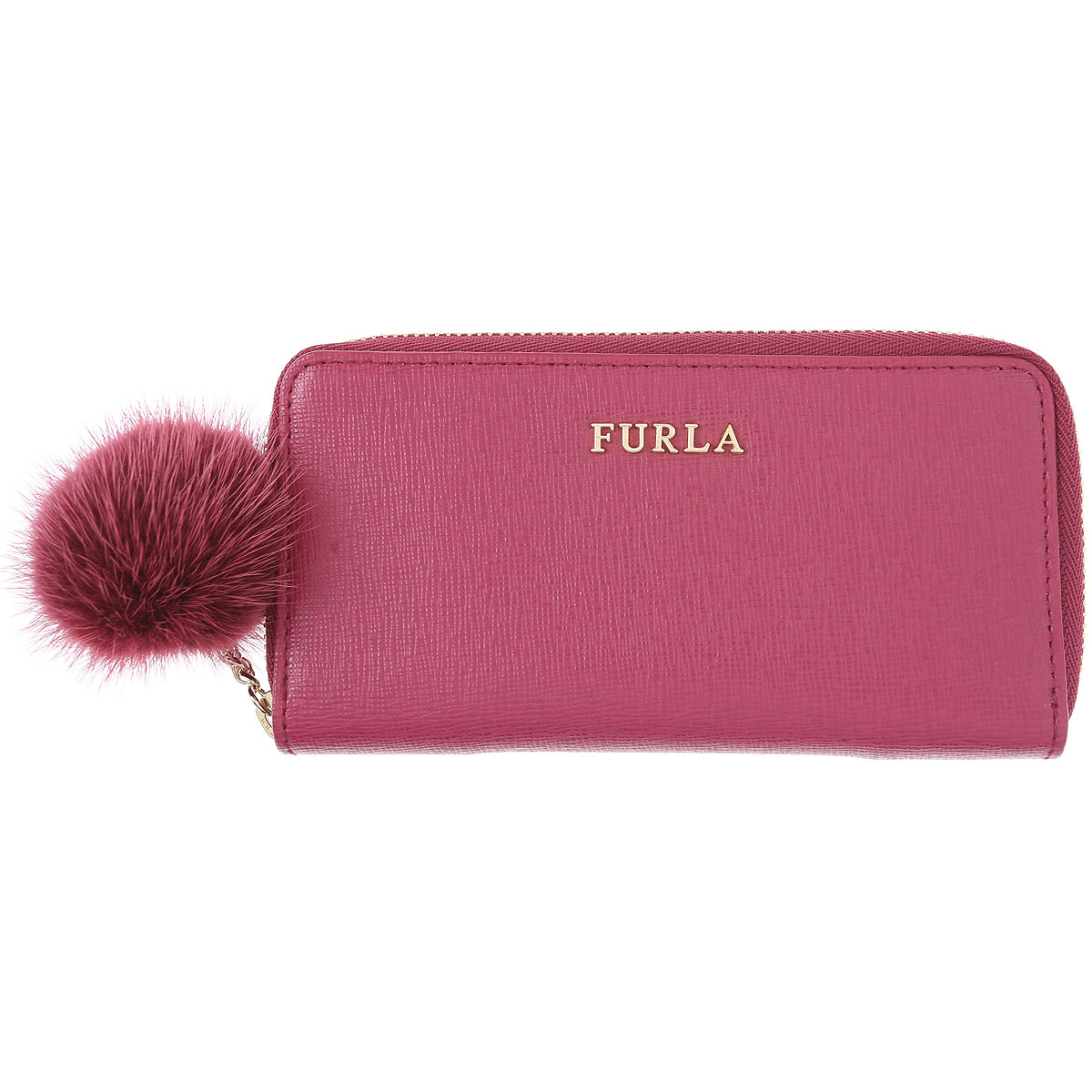 Furla Key Chain for Women, Key Ring On Sale in Outlet, Raspberry, Leather, 2019