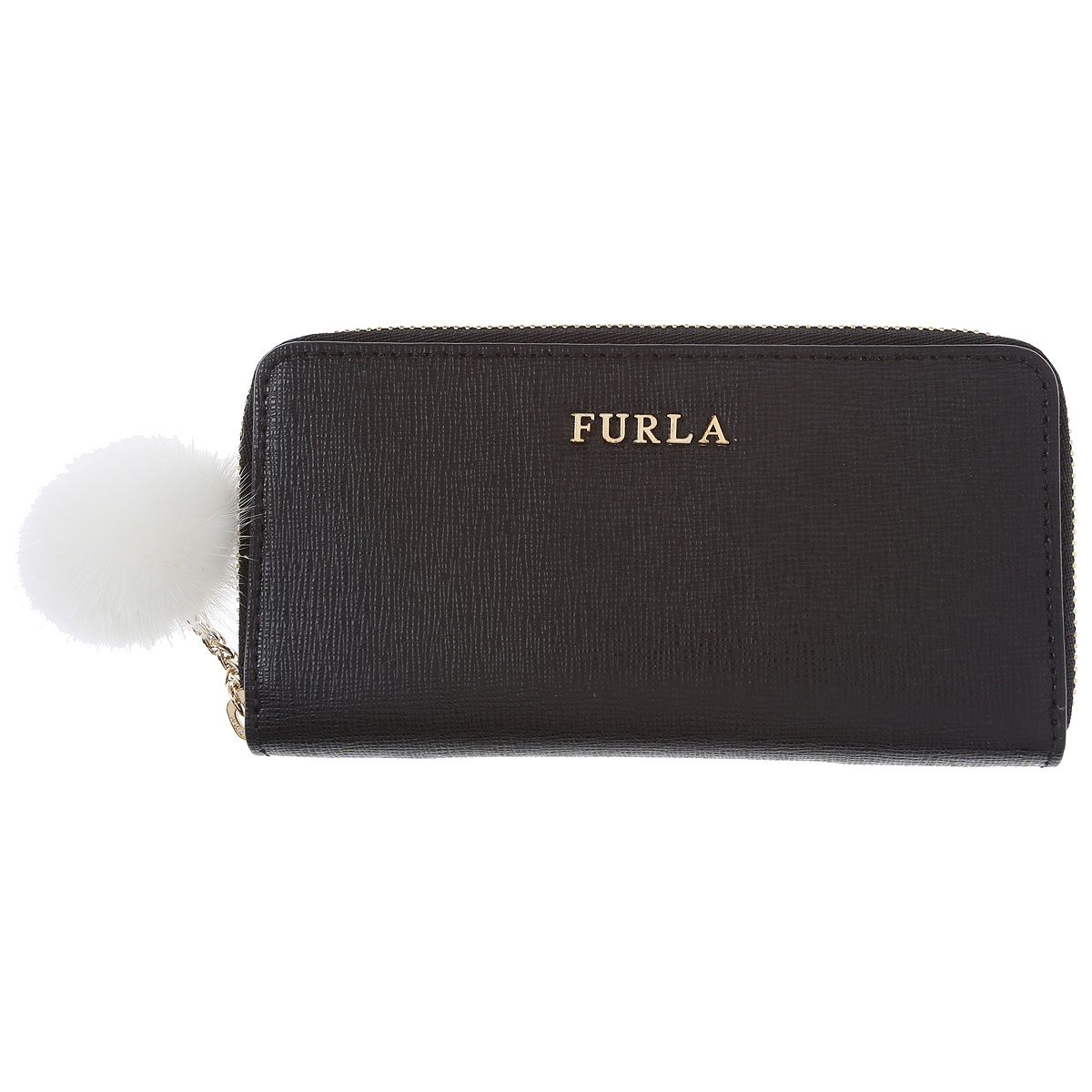 Furla Key Chain for Women, Key Ring On Sale in Outlet, Onyx Black, Leather, 2019