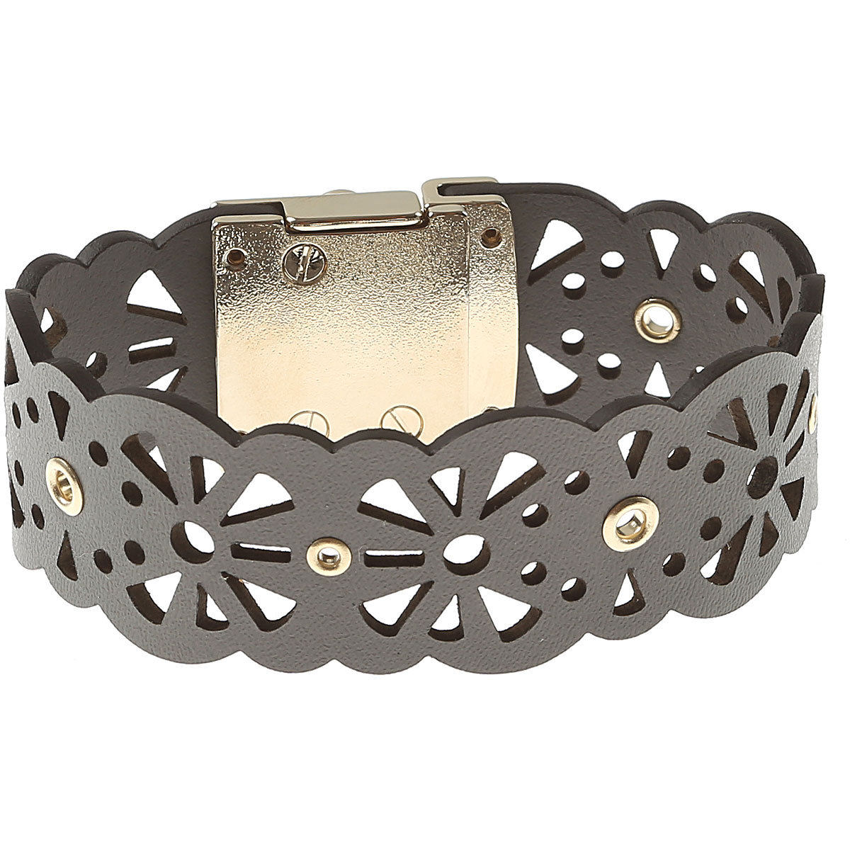 Image of Furla Bracelet for Women On Sale, Grey, Metal, 2017, Small Medium XSmall