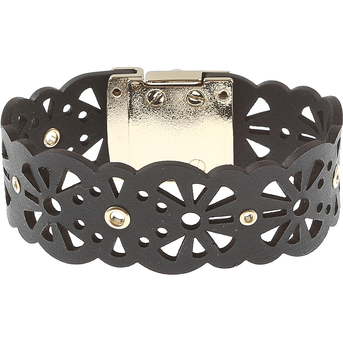 Image of Furla Bracelet for Women On Sale, Black, Metal, 2017, Small Medium XSmall