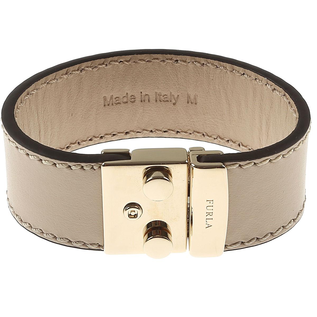 Image of Furla Bracelet for Women On Sale in Outlet, Beige, Metal, 2017, Small Medium XSmall