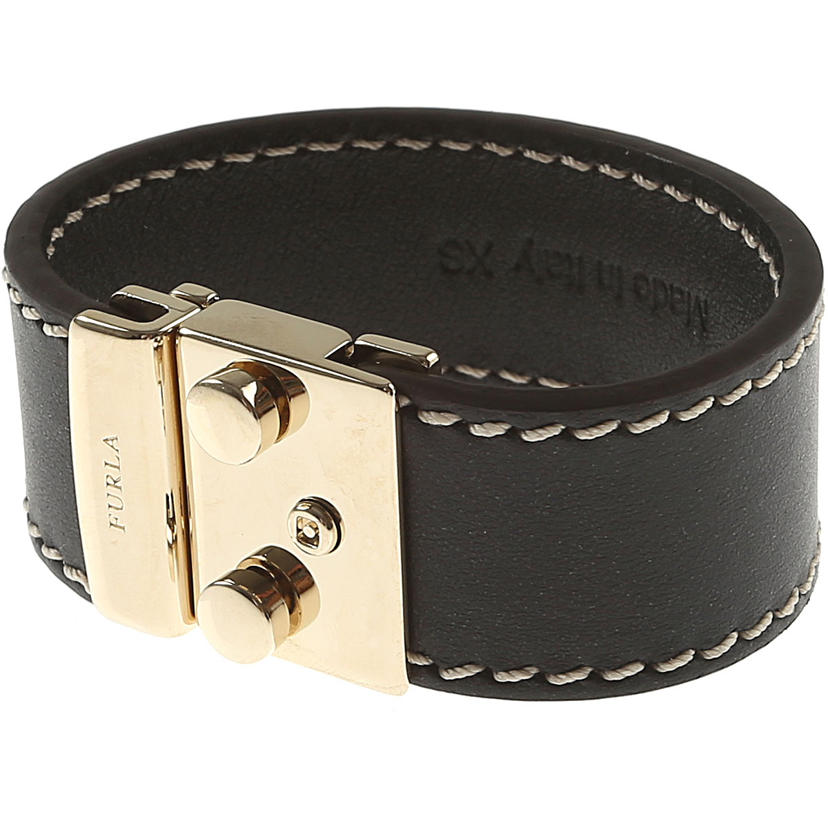 Image of Furla Bracelet for Women On Sale in Outlet, Black, Metal, 2017, Small Medium XSmall