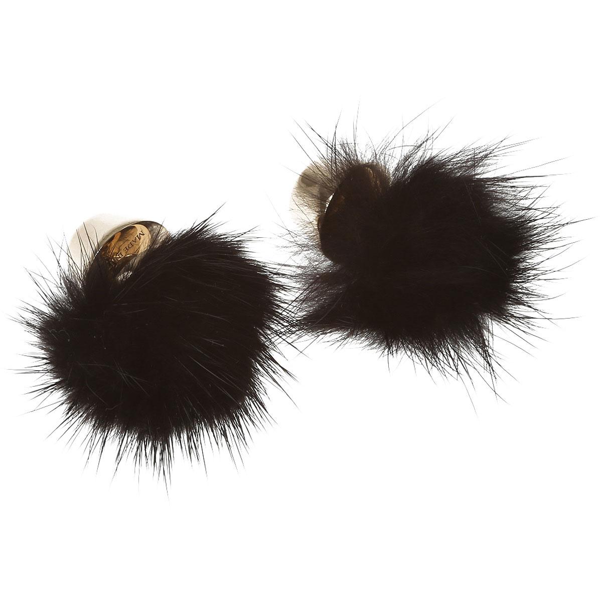 Image of Furla Earrings for Women On Sale in Outlet, Black, Fur, 2017