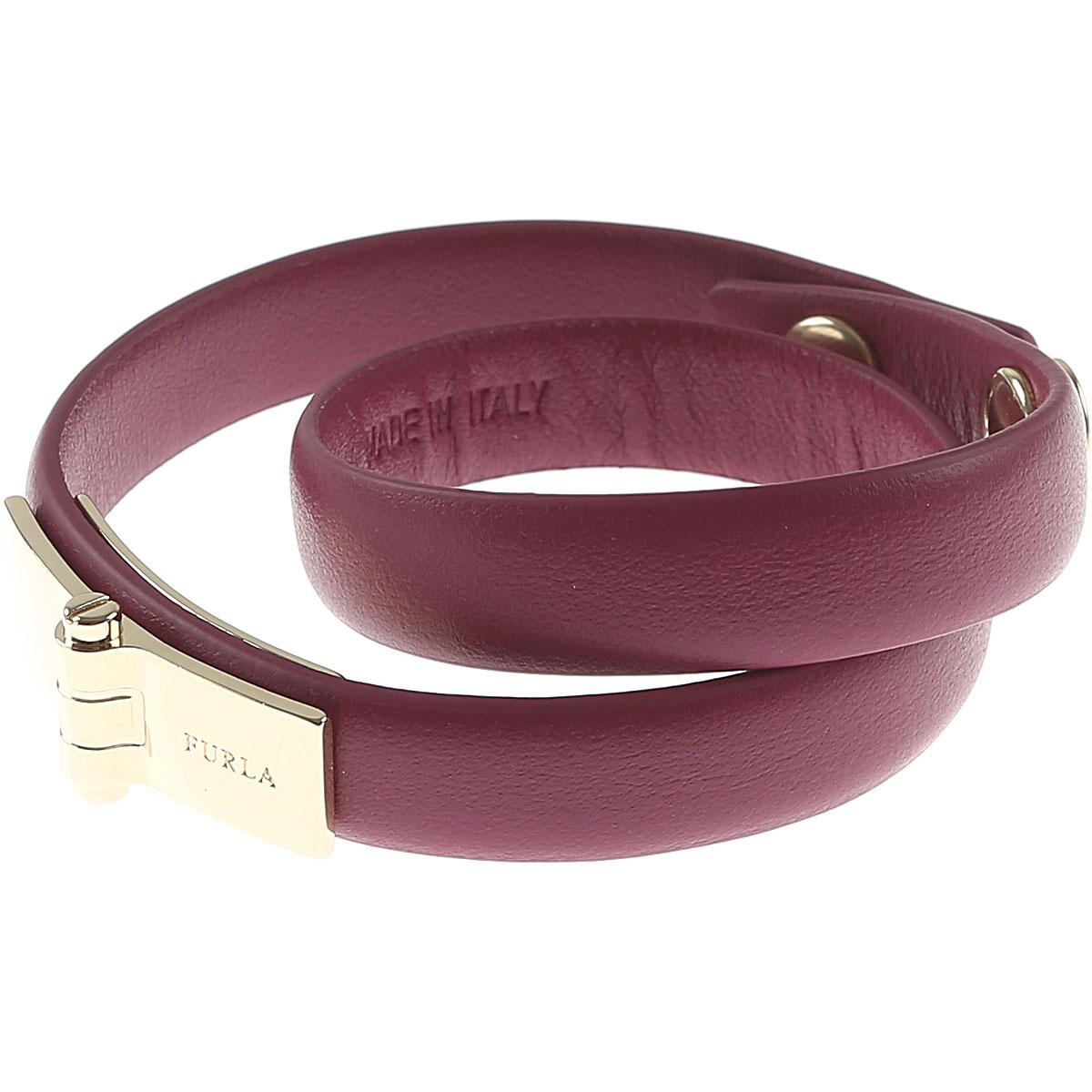 Furla Bracelet for Women On Sale in Outlet, Plum, Leather, 2019
