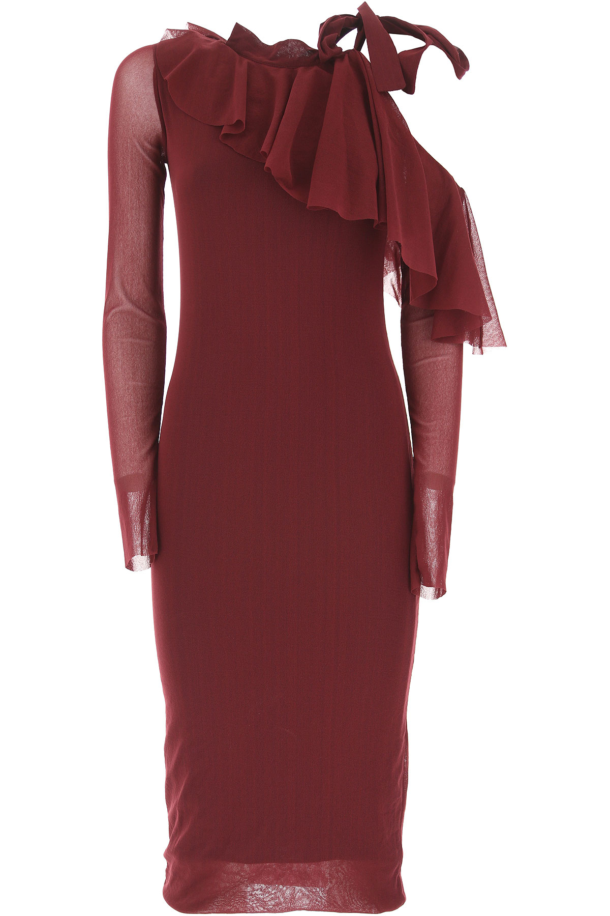 Image of Fuzzi Dress for Women, Evening Cocktail Party On Sale in Outlet, Bordeaux, polyamide, 2017, 6 8