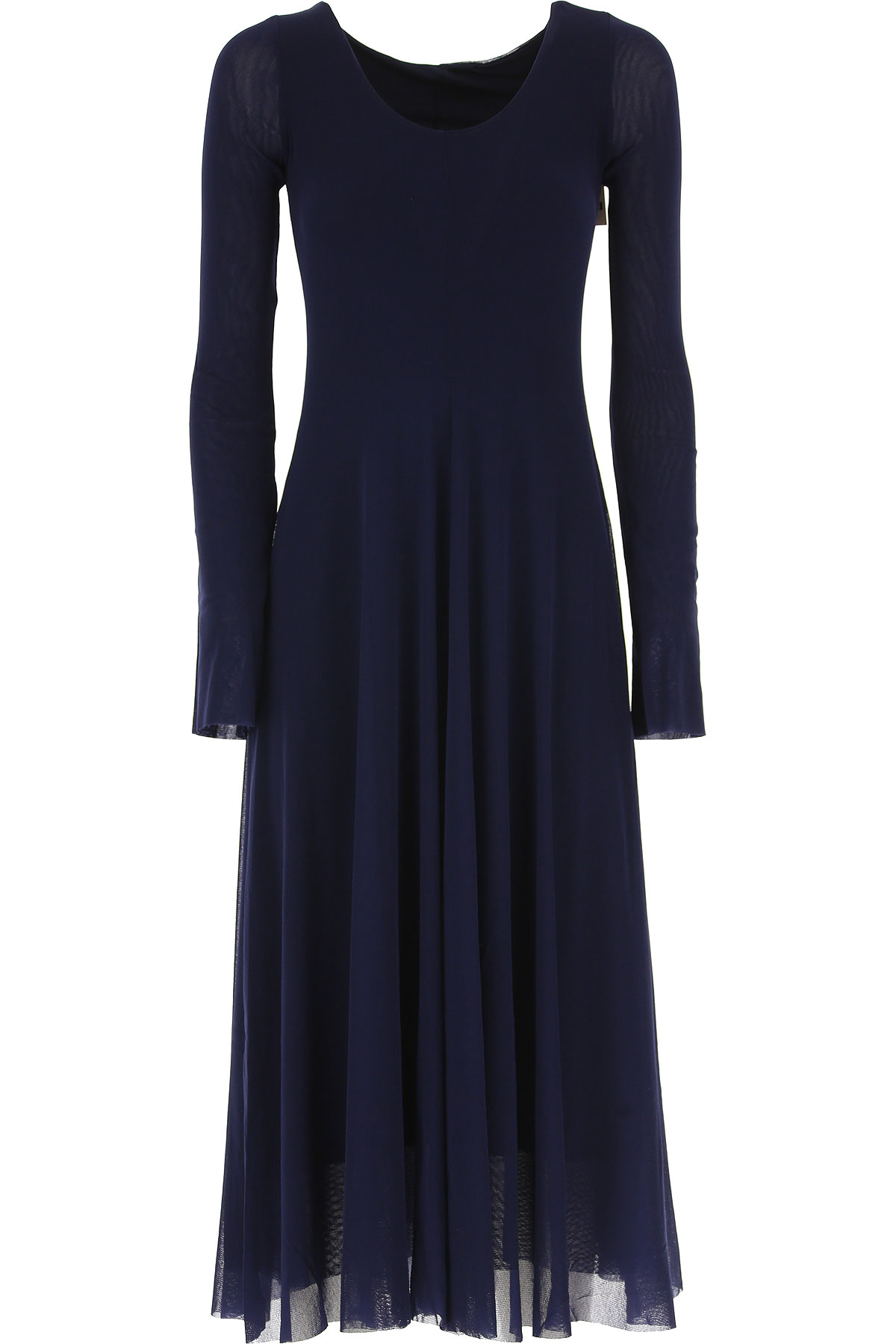 Image of Fuzzi Dress for Women, Evening Cocktail Party, Dark Blue, polyamide, 2017, 10 4 6 8