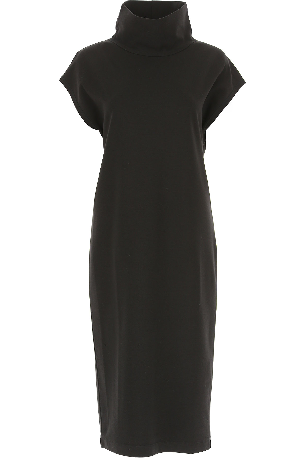 Image of Fuzzi Dress for Women, Evening Cocktail Party, Black, Viscose, 2017, 4 6 8