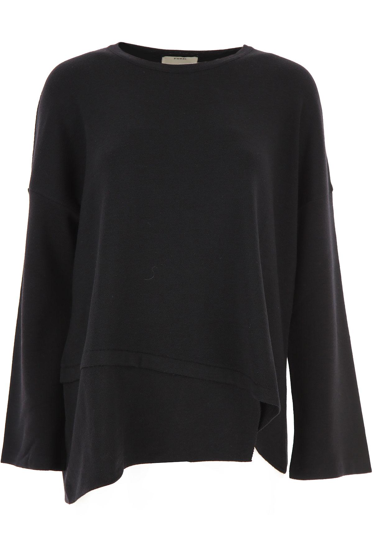Fuzzi Sweatshirt for Women Pas cher en Soldes, Noir, Laine vierge, 2019, 40 M