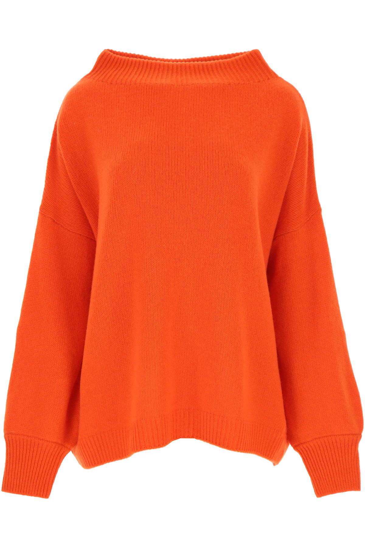 Fuzzi Sweater for Women Jumper On Sale, Orange, Virgin wool, 2019, 4 6 8
