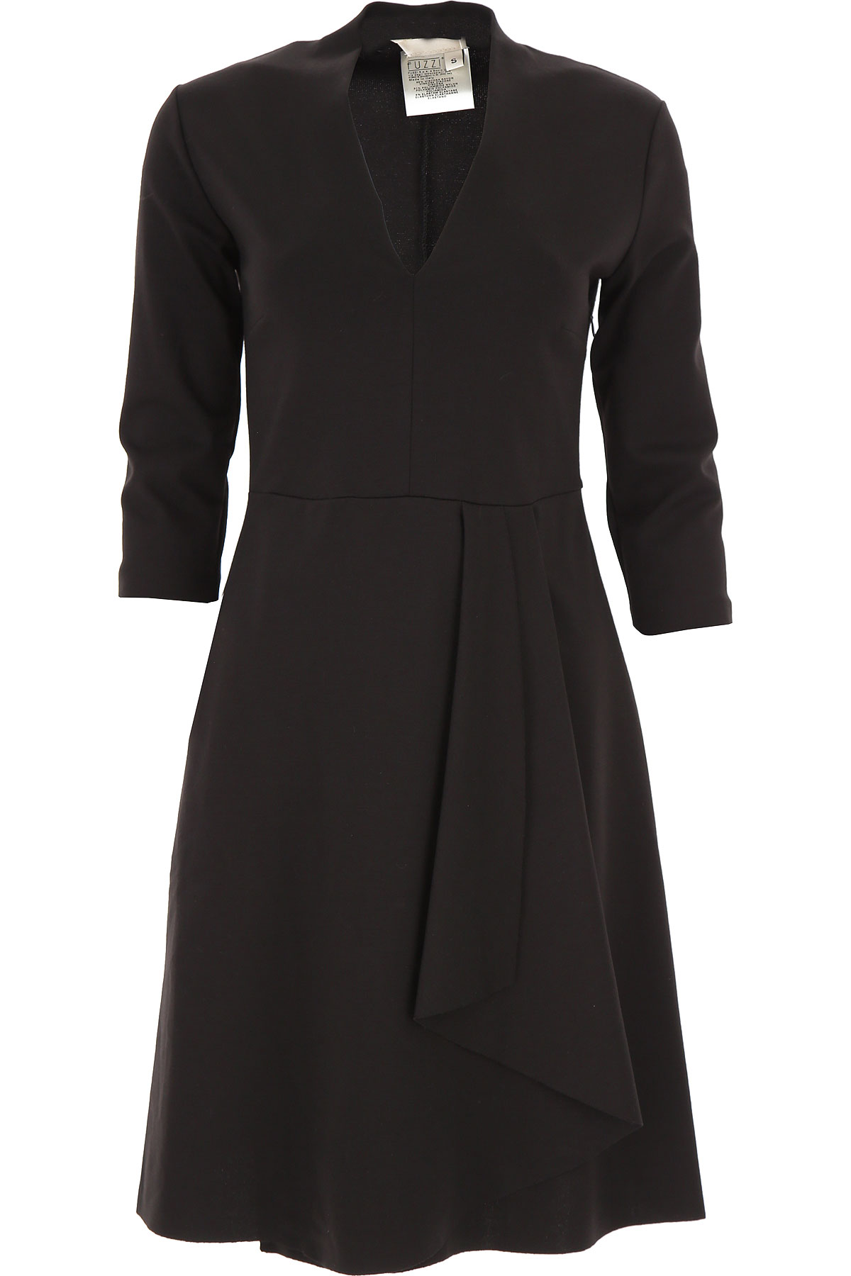 Fuzzi Dress for Women, Evening Cocktail Party On Sale, Black, Viscose, 2019, 6 8