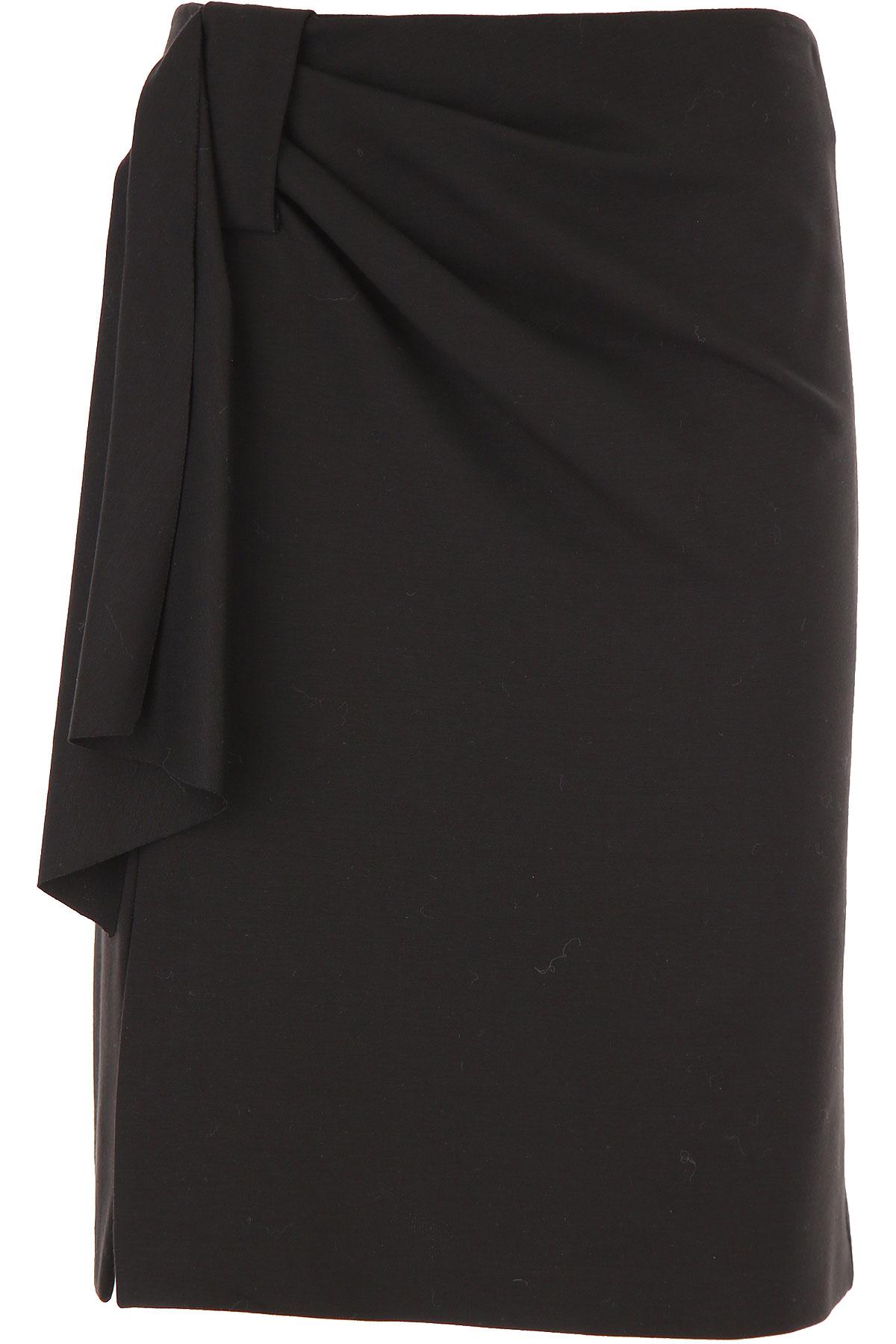 Fuzzi Skirt for Women On Sale, Black, Viscose, 2019, 4 6 8