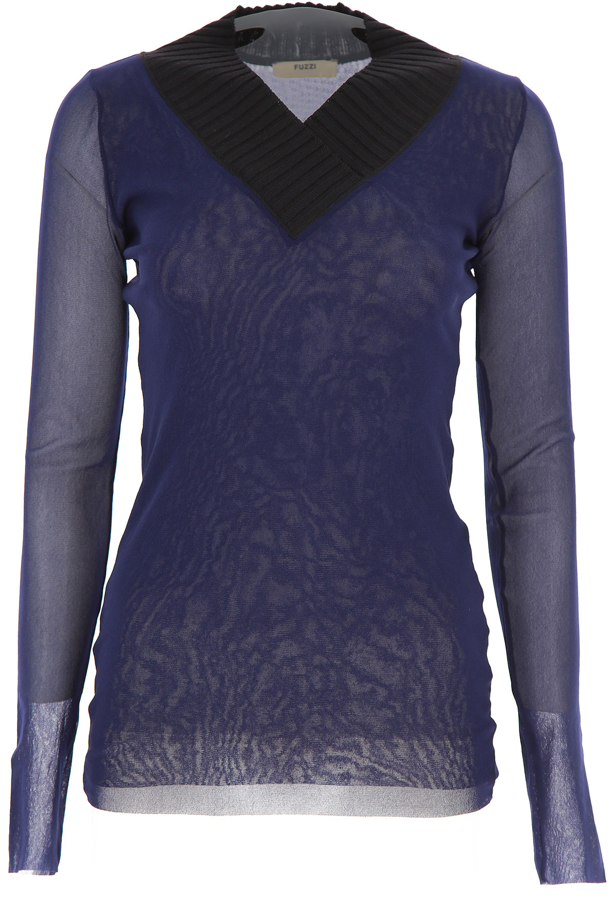 Fuzzi Sweater for Women Jumper On Sale, Midnight Blue, polyamide, 2019, 4 6 8