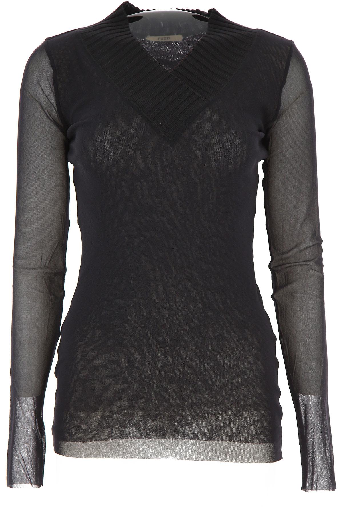 Fuzzi Sweater for Women Jumper On Sale, Black, polyamide, 2019, 4 6 8