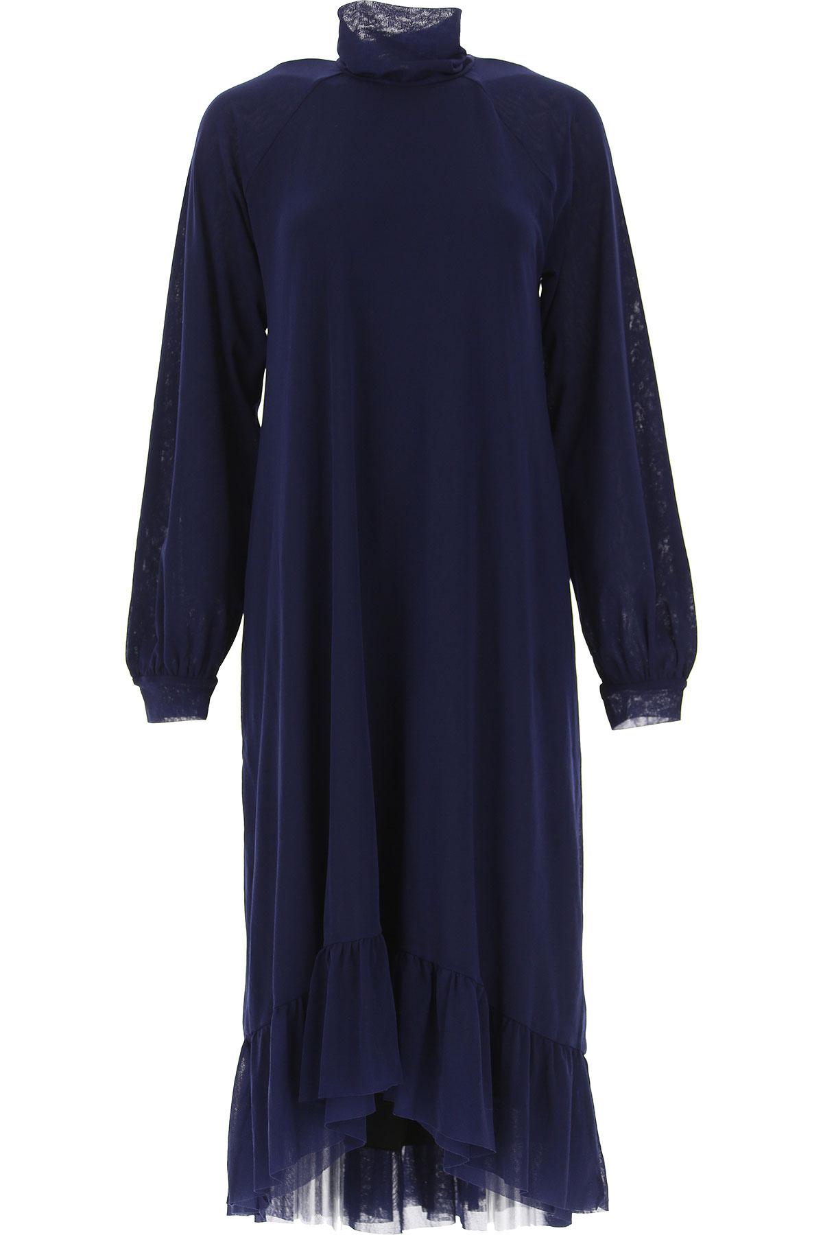 Fuzzi Dress for Women, Evening Cocktail Party On Sale, Dark Blue, polyamide, 2019, 4 6 8