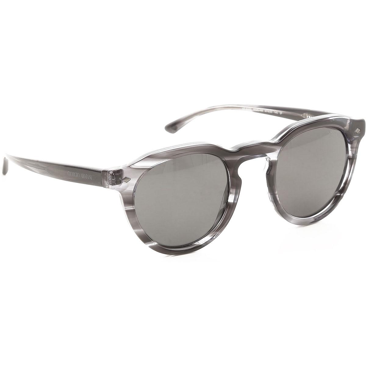 Giorgio Armani Sunglasses On Sale, Striped Grey, 2019