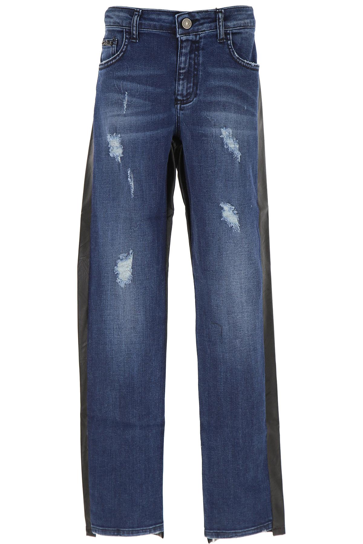 Gaelle Kids Jeans for Girls On Sale, Denim Blue, Cotton, 2019, 10Y 12Y 14Y 8Y