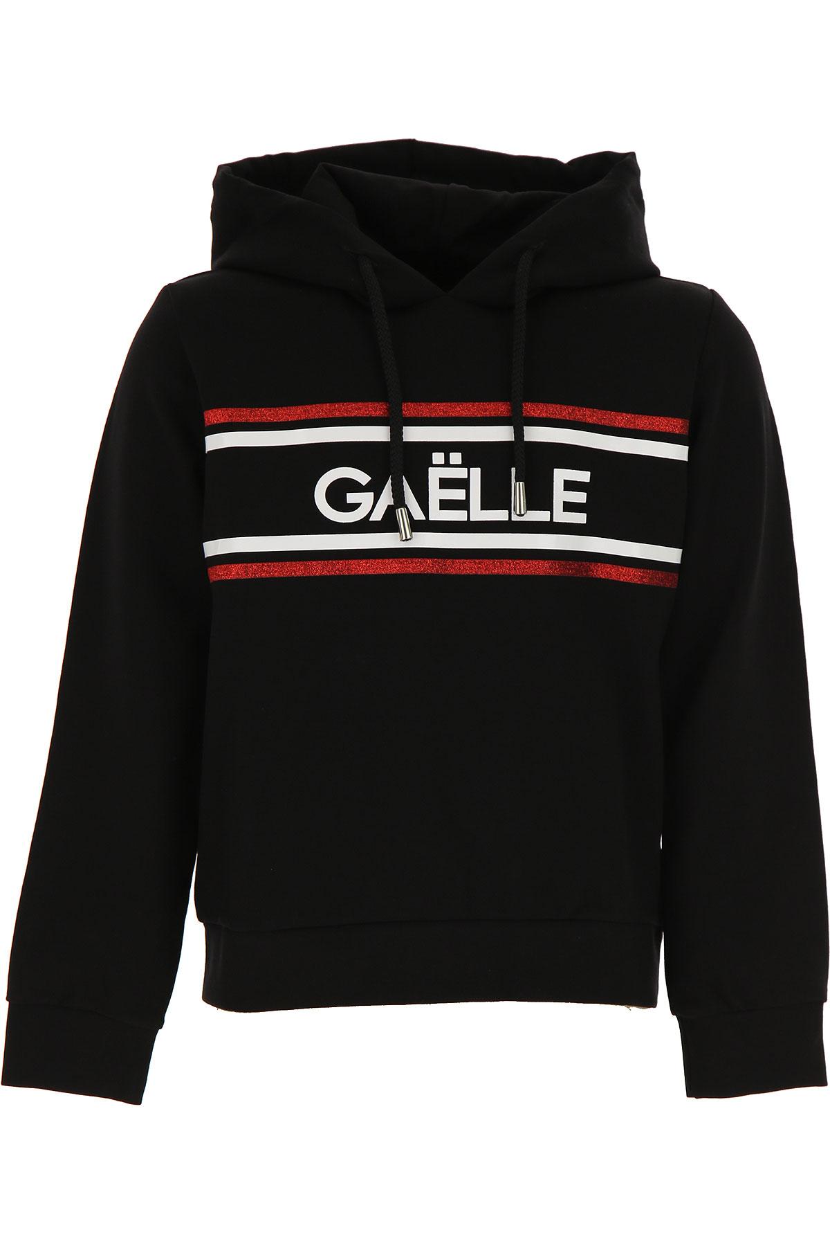 Gaelle Kids Sweatshirts & Hoodies for Girls On Sale, Black, Rayon, 2019, 10Y 12Y 14Y 8Y