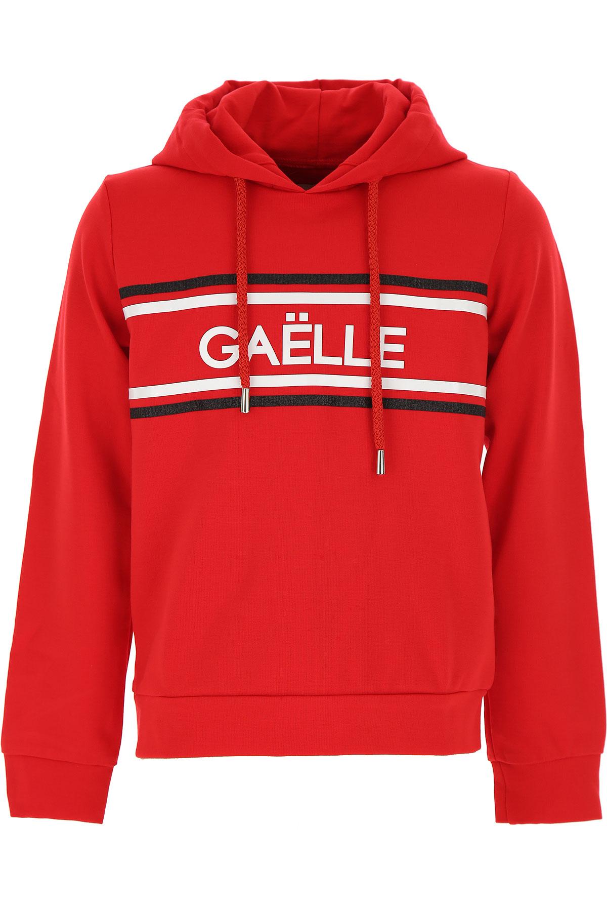 Gaelle Kids Sweatshirts & Hoodies for Girls On Sale, Red, Rayon, 2019, 10Y 12Y 8Y