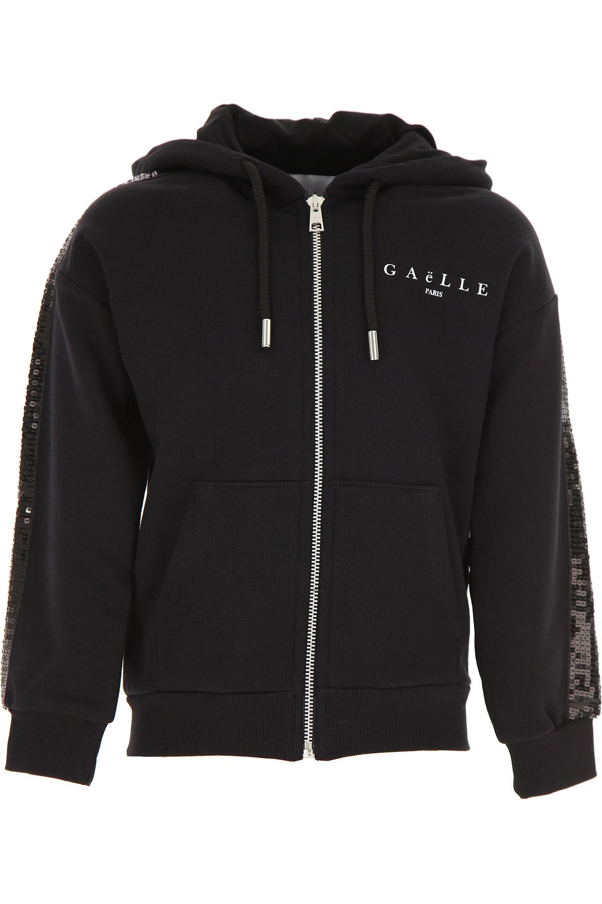 Gaelle Kids Sweatshirts & Hoodies for Girls On Sale, Black, Cotton, 2019, 12Y 14Y 16Y