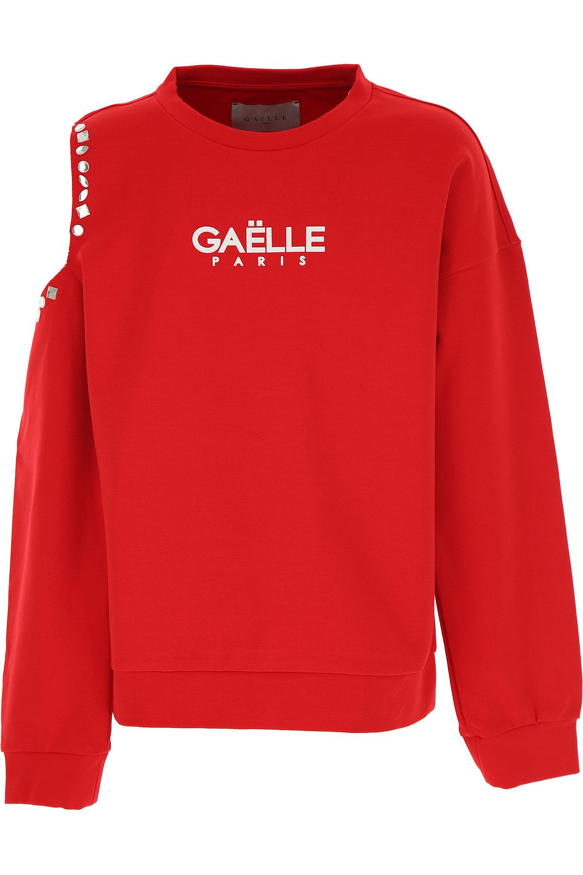 Gaelle Kids Sweatshirts & Hoodies for Girls On Sale, Red, Viscose, 2019, 10Y 12Y 14Y