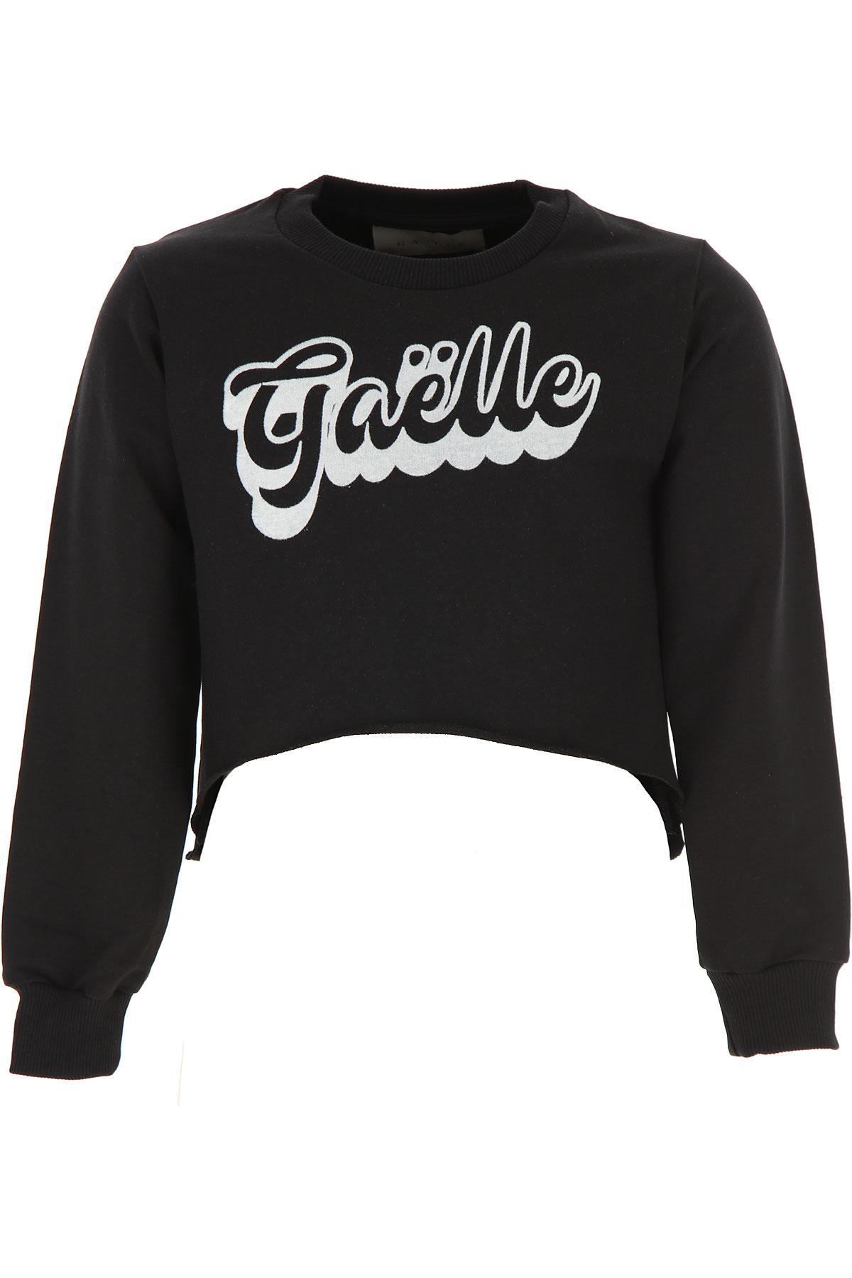 Gaelle Kids Sweatshirts & Hoodies for Girls On Sale, Black, Cotton, 2019, 12Y 14Y 16Y 8Y