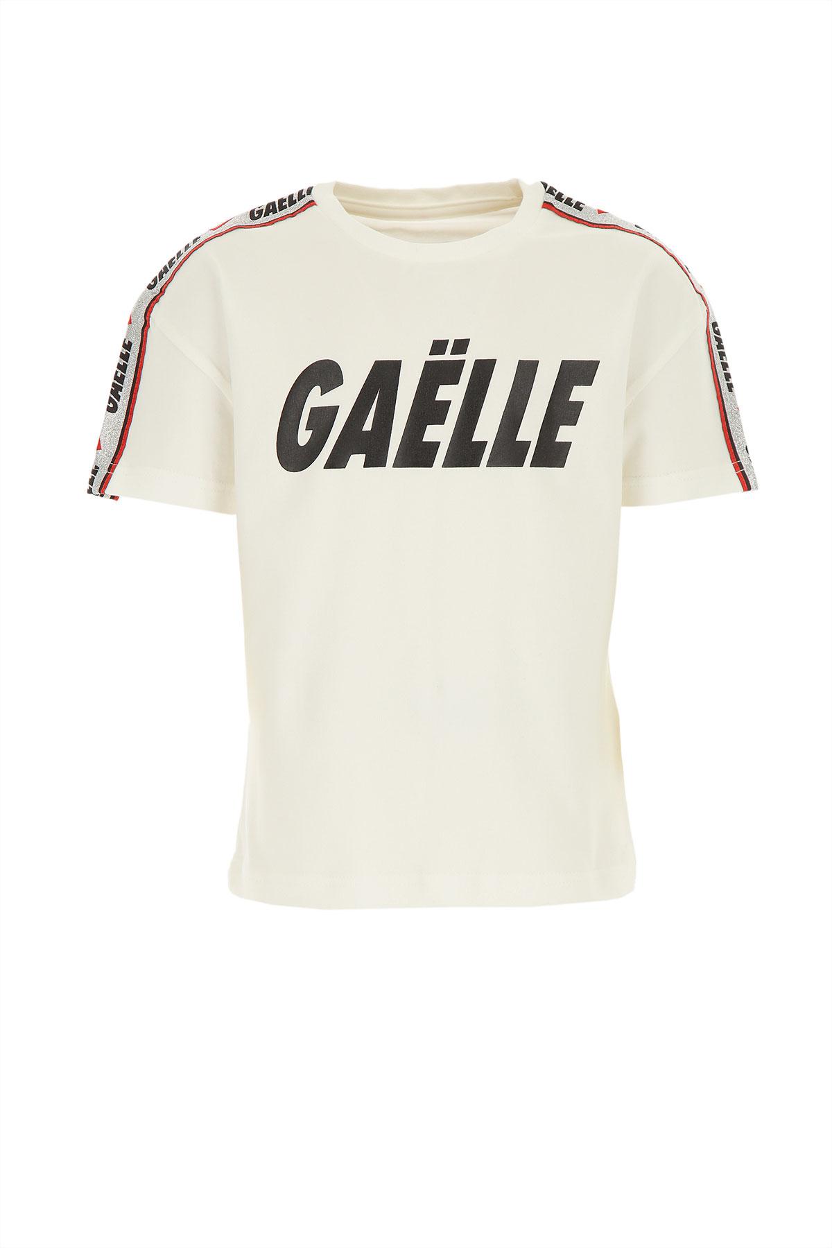 Gaelle Kids T-Shirt for Girls On Sale, White, Cotton, 2019, 12Y 4Y 6Y 8Y
