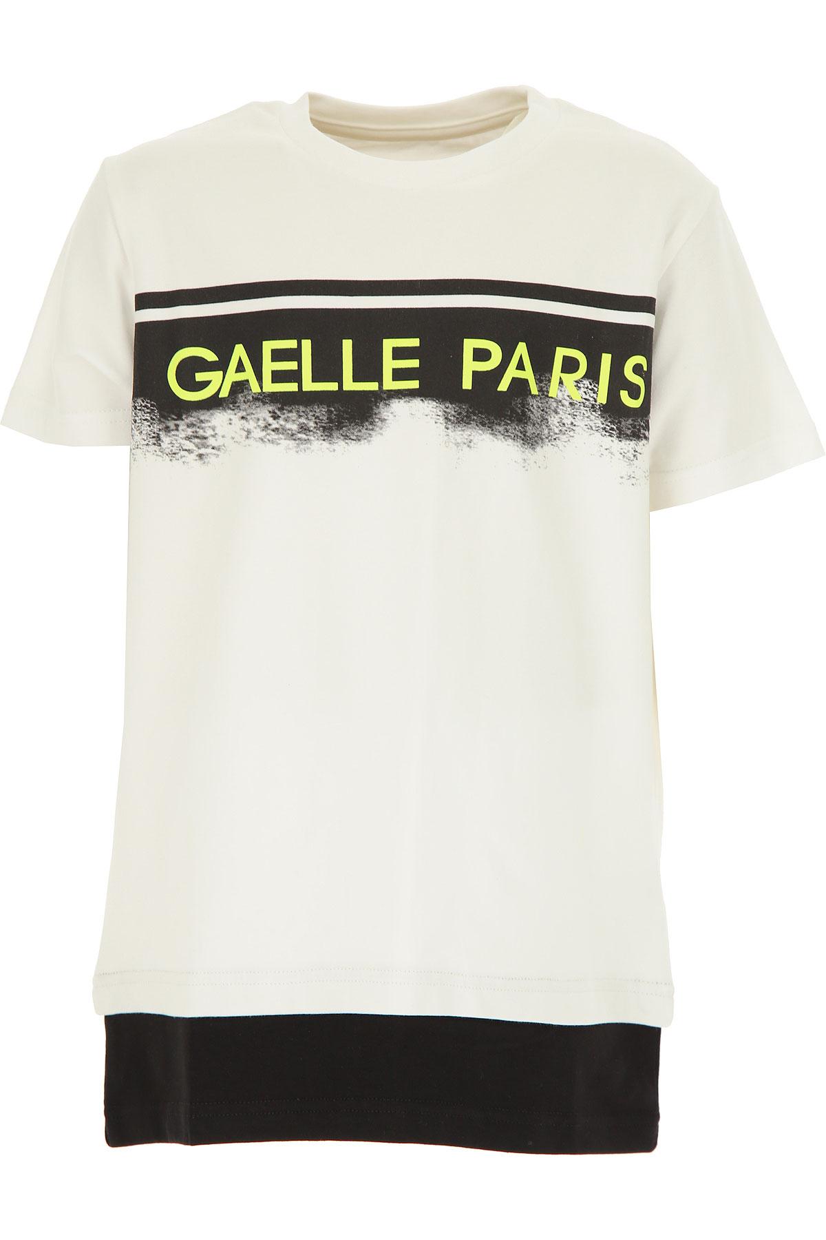Gaelle Kids T-Shirt for Girls On Sale, White, Cotton, 2019, 12Y 14Y 16Y 4Y 6Y
